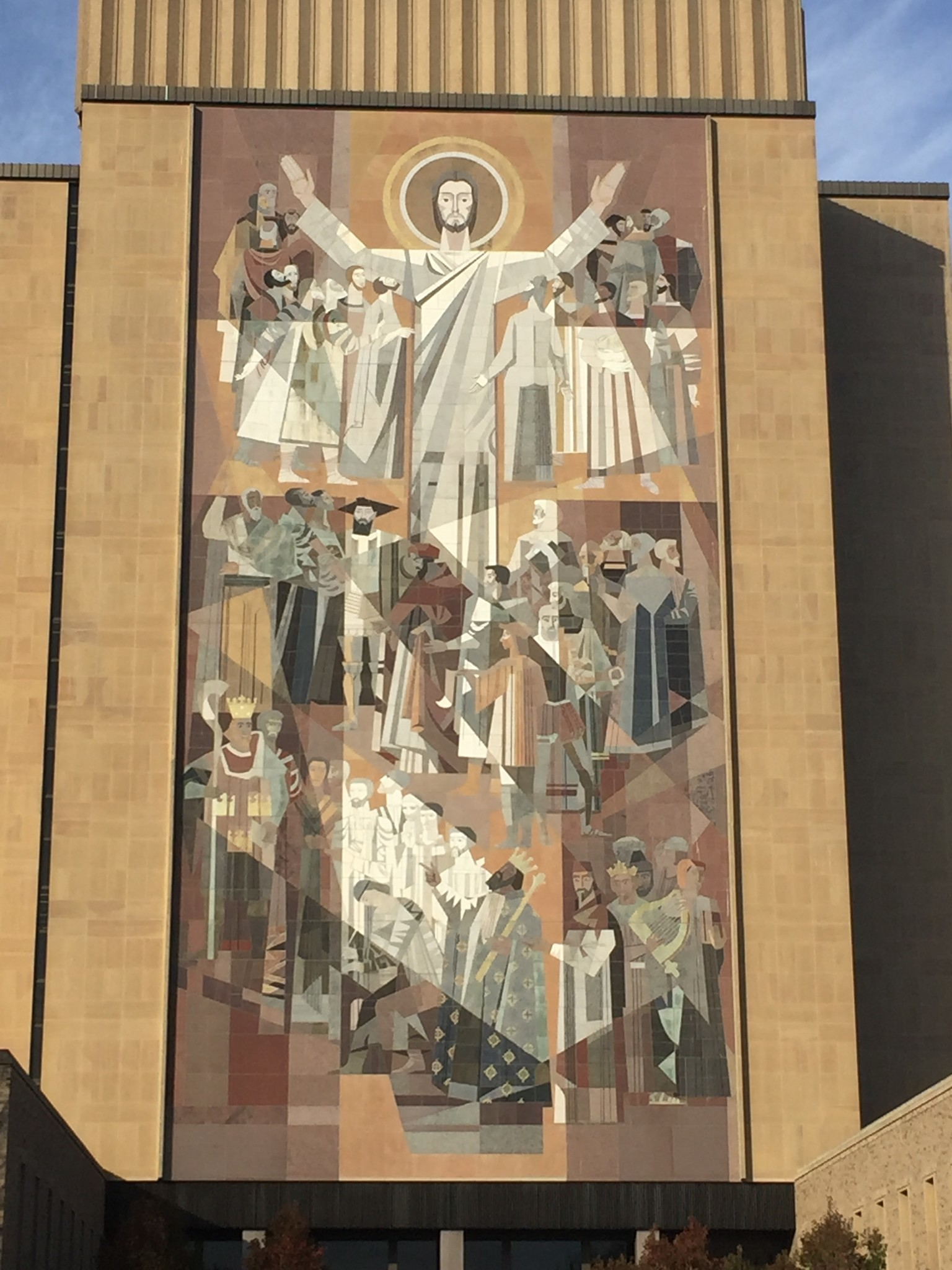 Notre dame mural photo