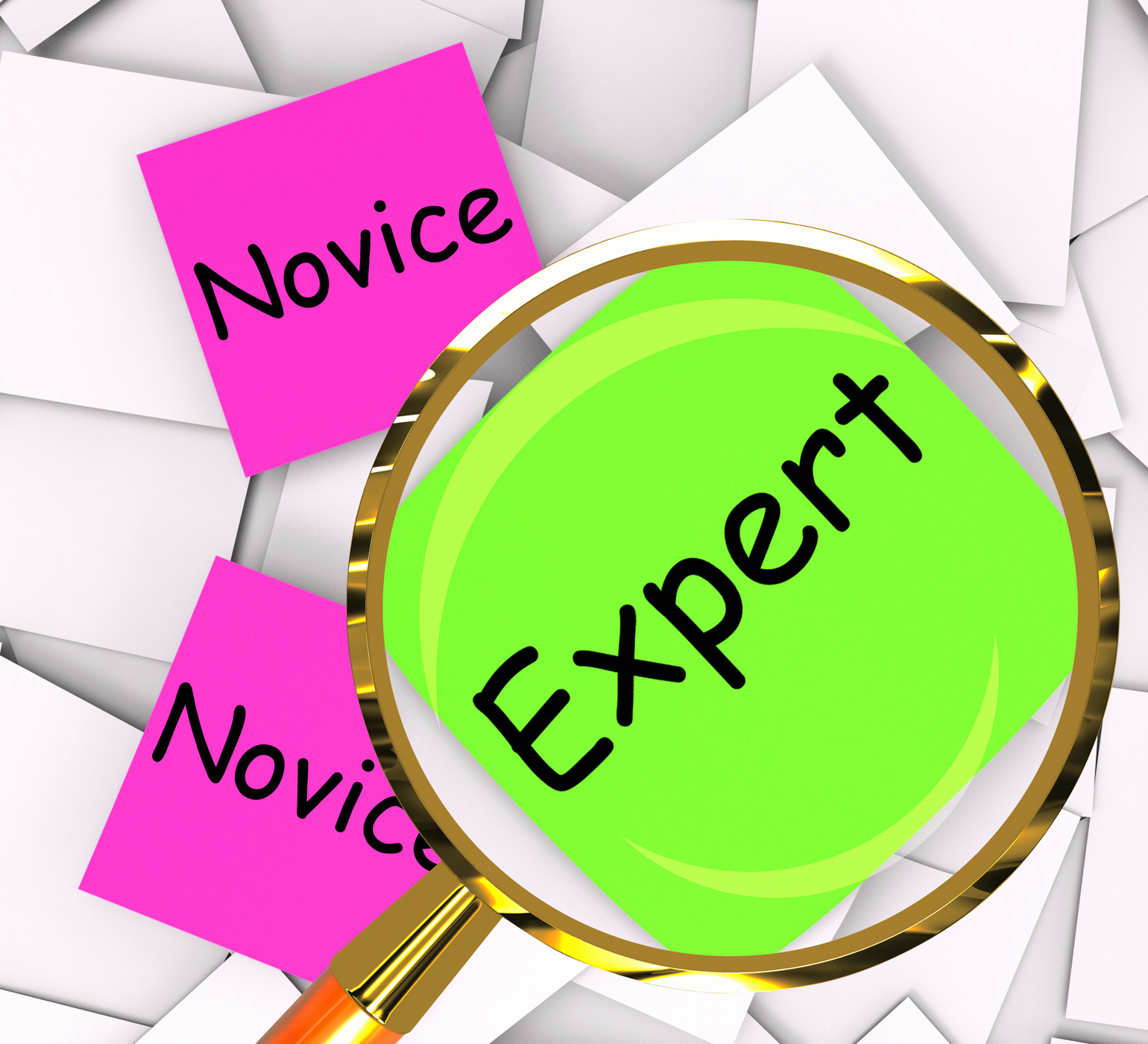 Novice expert post-it papers mean amateur or skilled photo