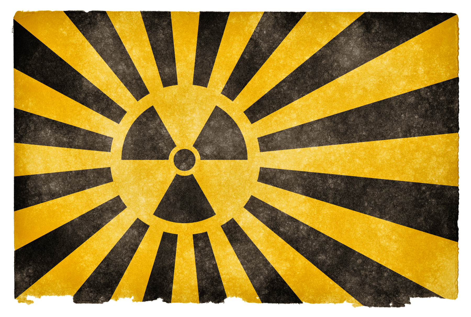 Nuclear burst grunge flag photo