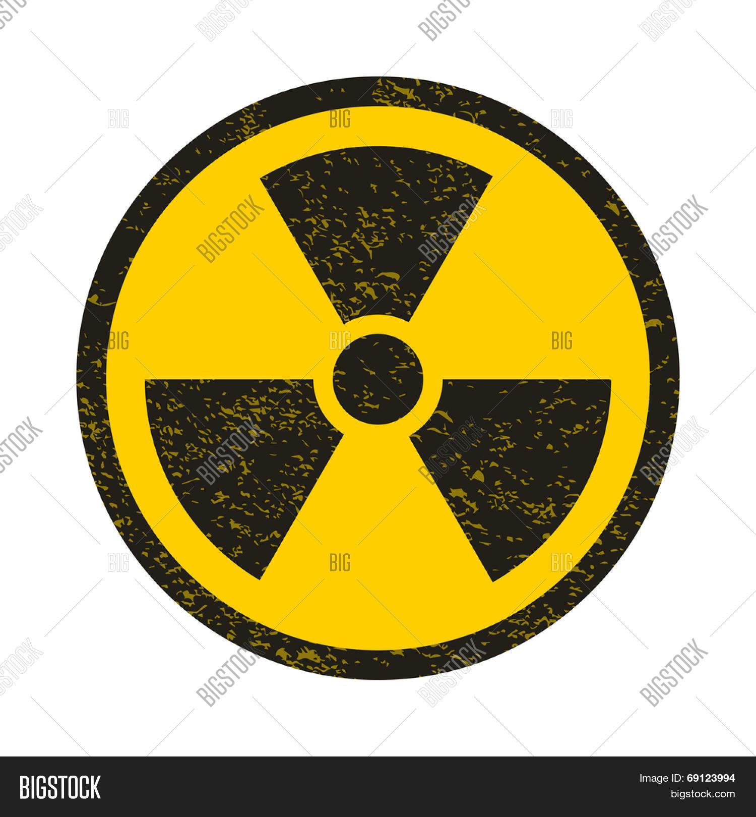 Grunge Nuclear Symbol Vector Vector & Photo | Bigstock