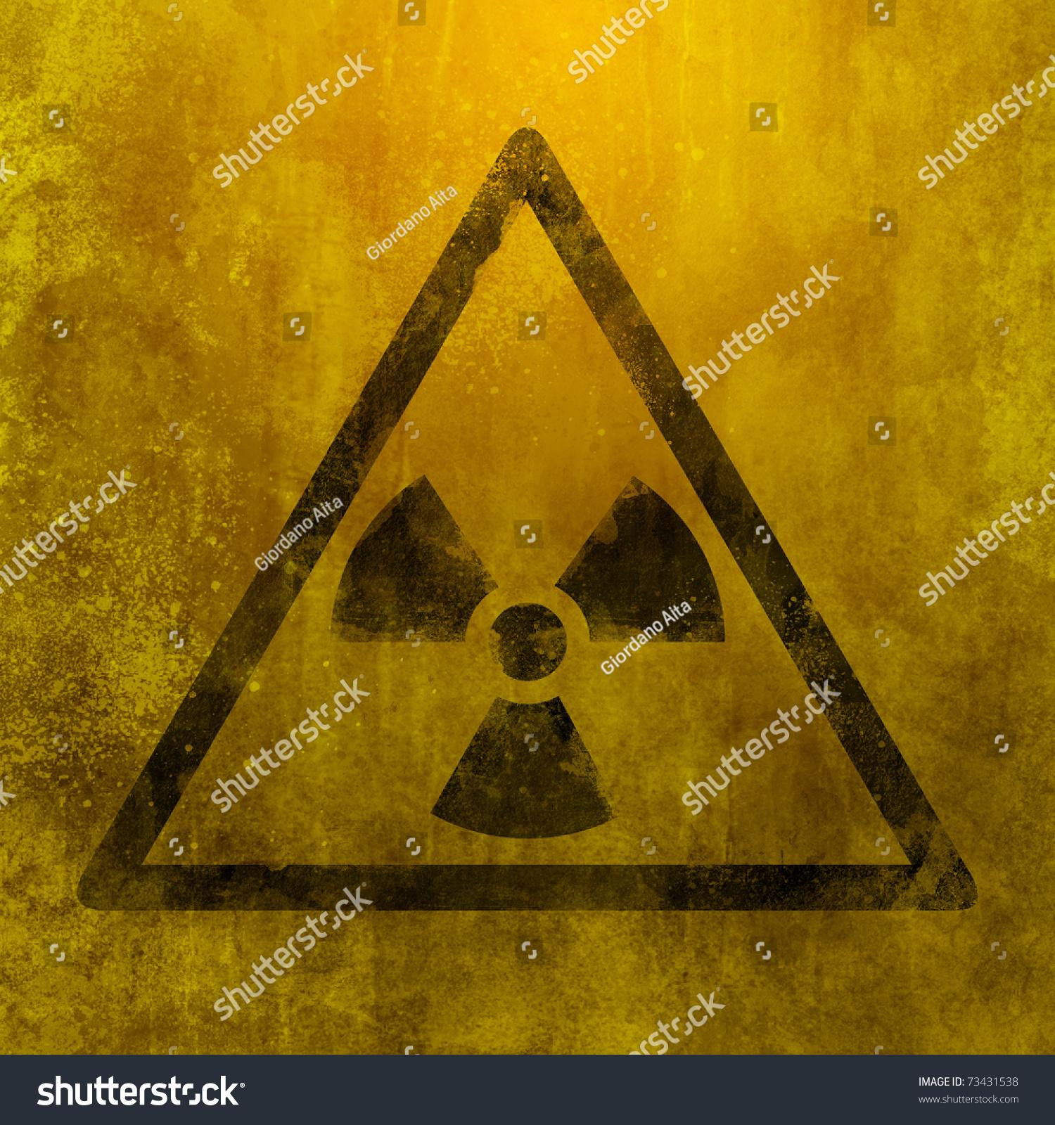 Metal Rust Grunge Ruined Nuclear Symbol Stock Illustration 73431538 ...
