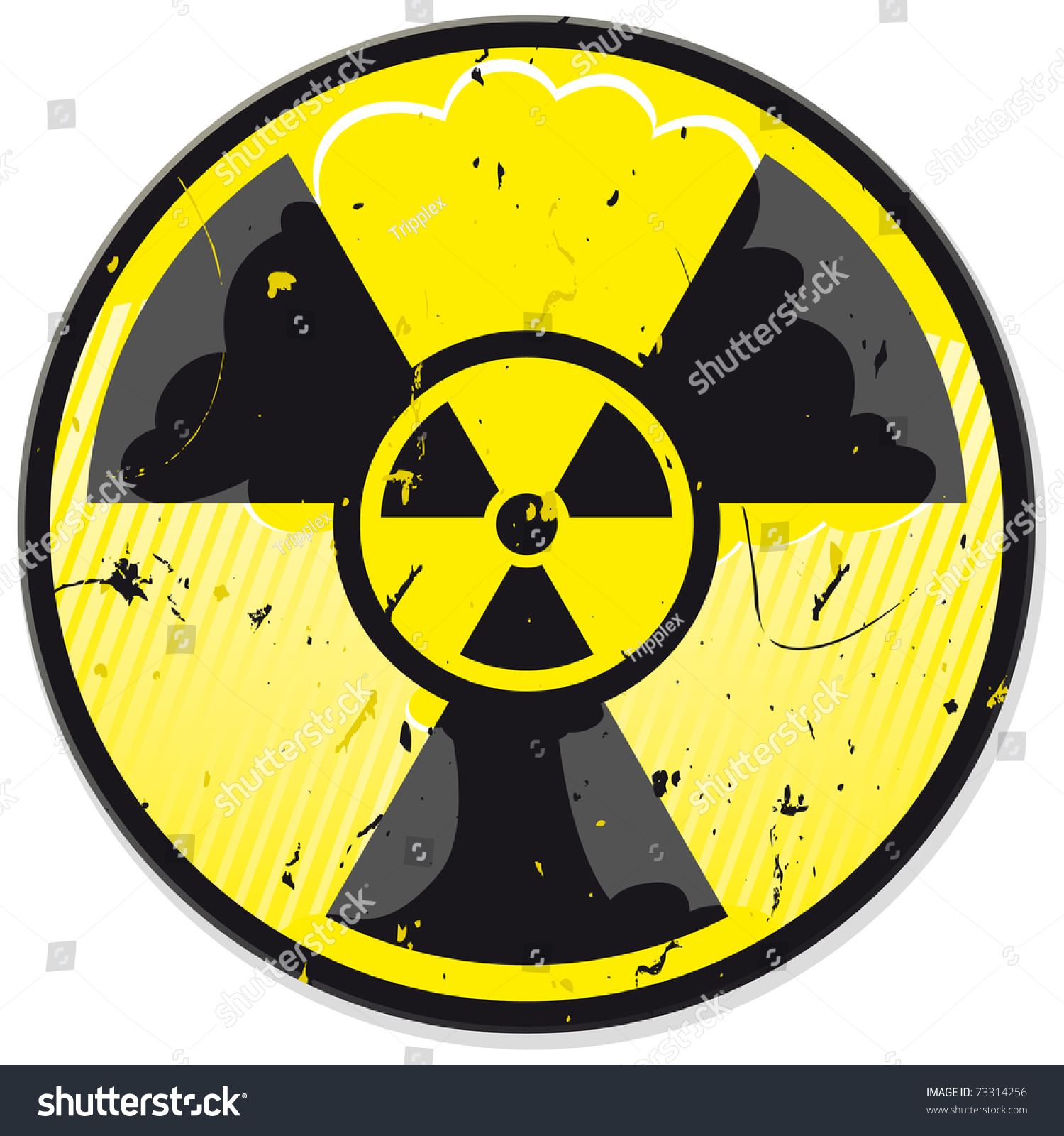 Grunge Nuclear Power Sign Isolated On Stock Vector 73314256 ...
