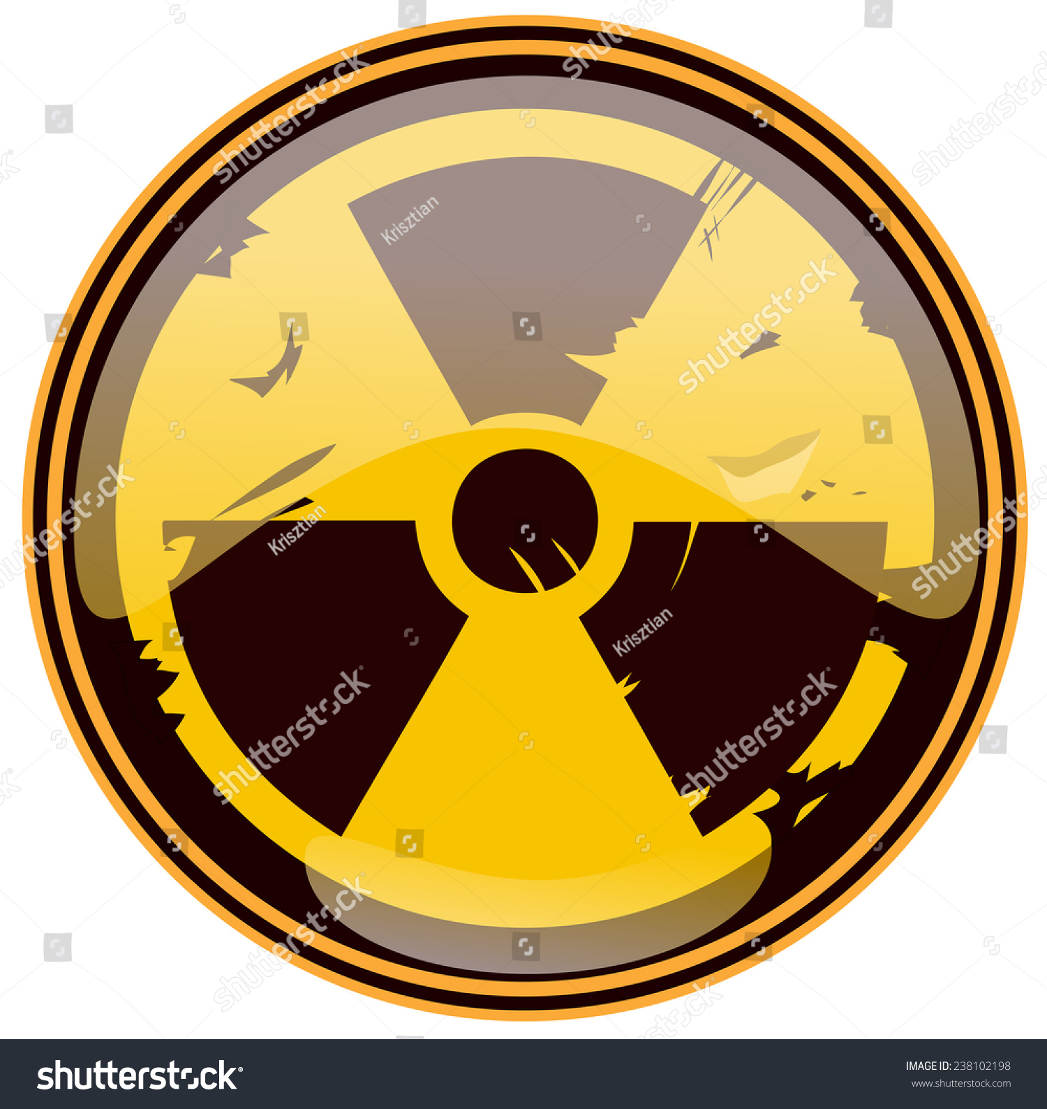 Round Grunge Nuclear Sign Vector Illustration Stock Vector 238102198 ...