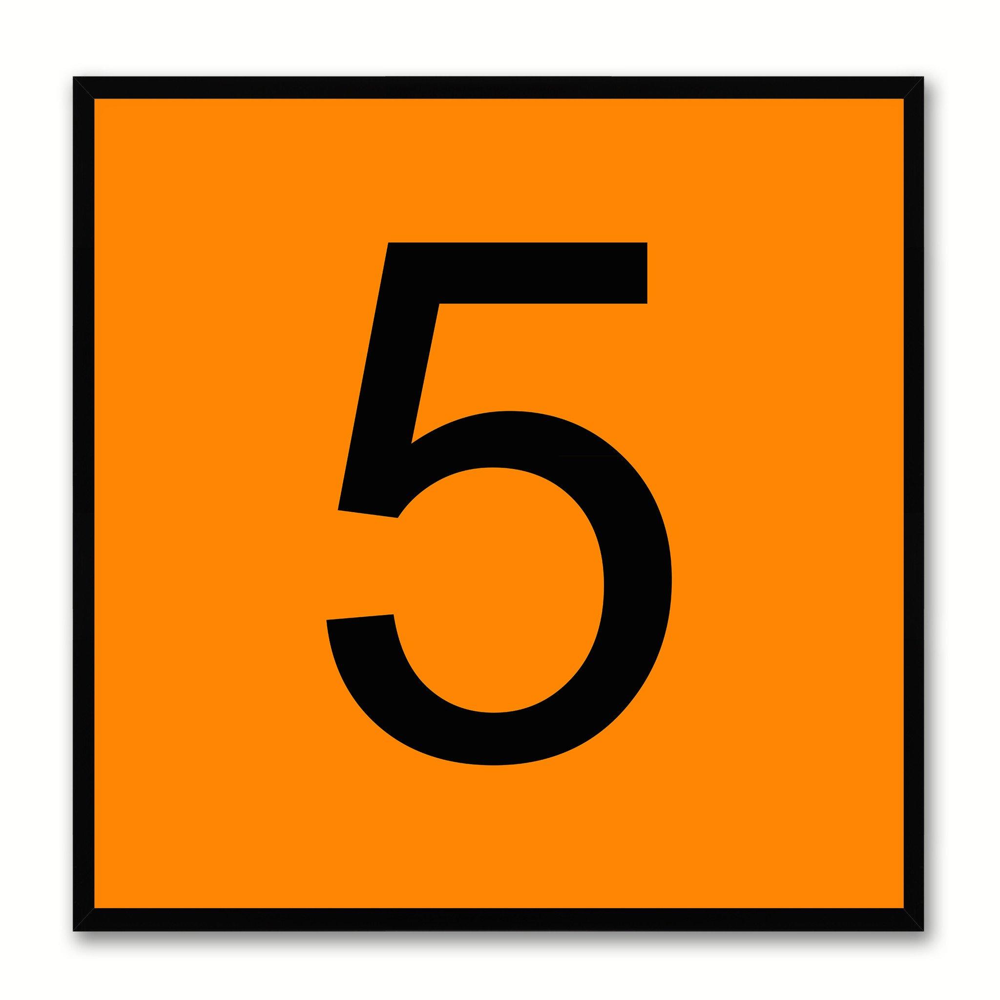 NUMBER 5 BLACK PERSPEX 40MM - Handles Inc.