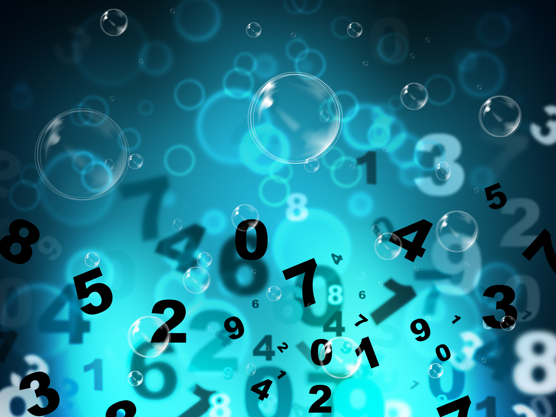 Numbers Mathematics Shows High Tec And Numerical, Blue, Maths, Tech, Numerical, HQ Photo