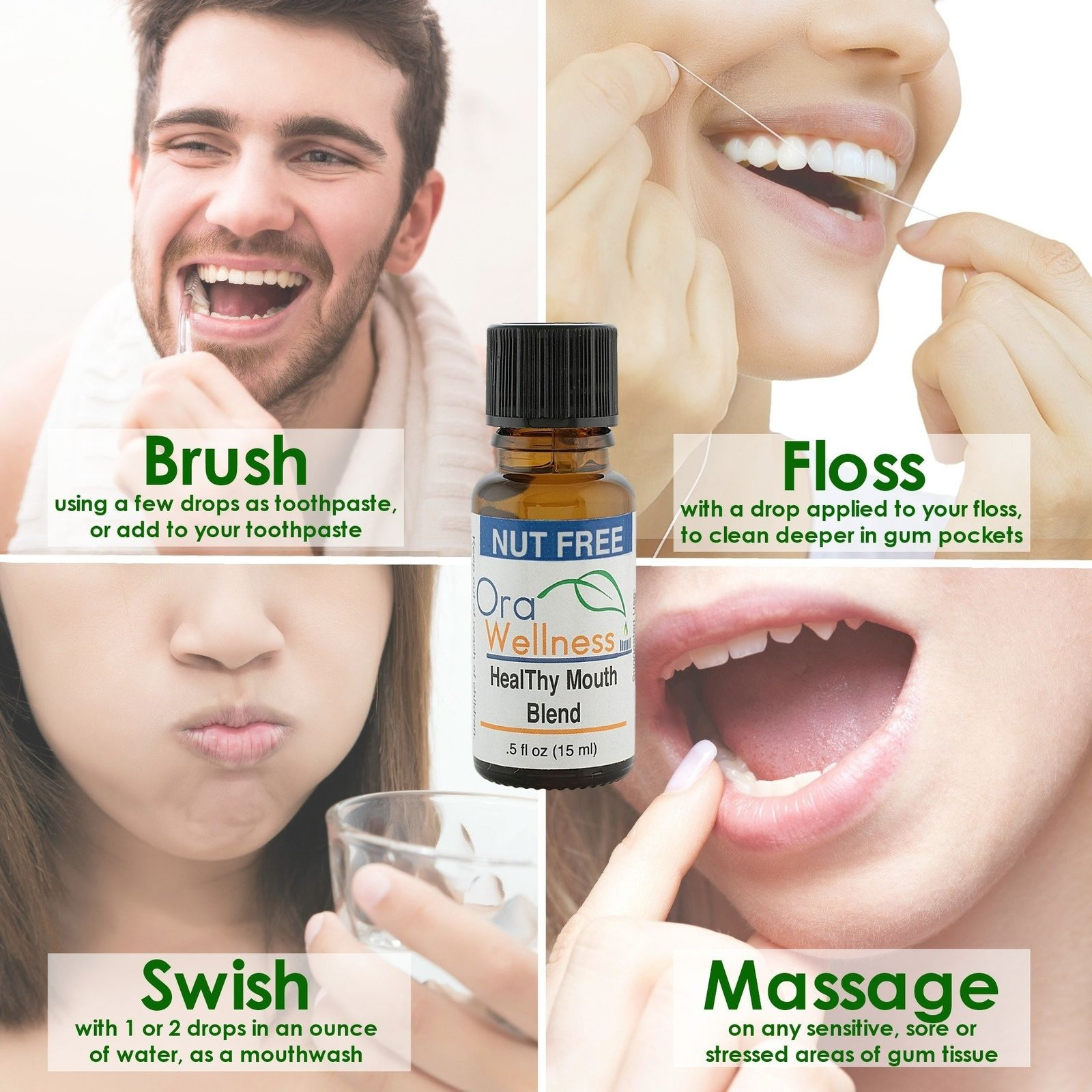 Orawellness Nut Healthy Mouth Blend Single Bottle | eBay
