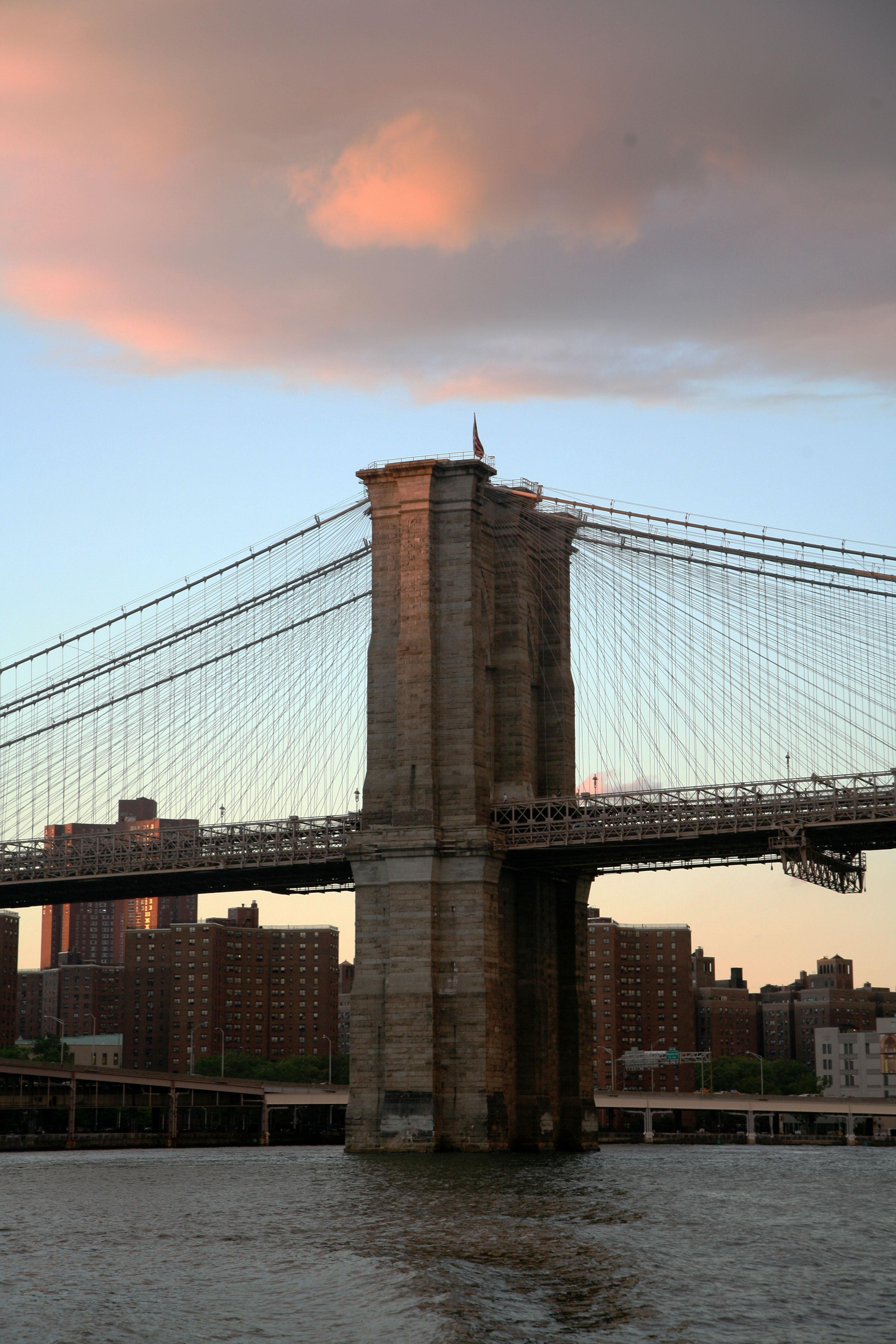 Ny bridge at sunset photo