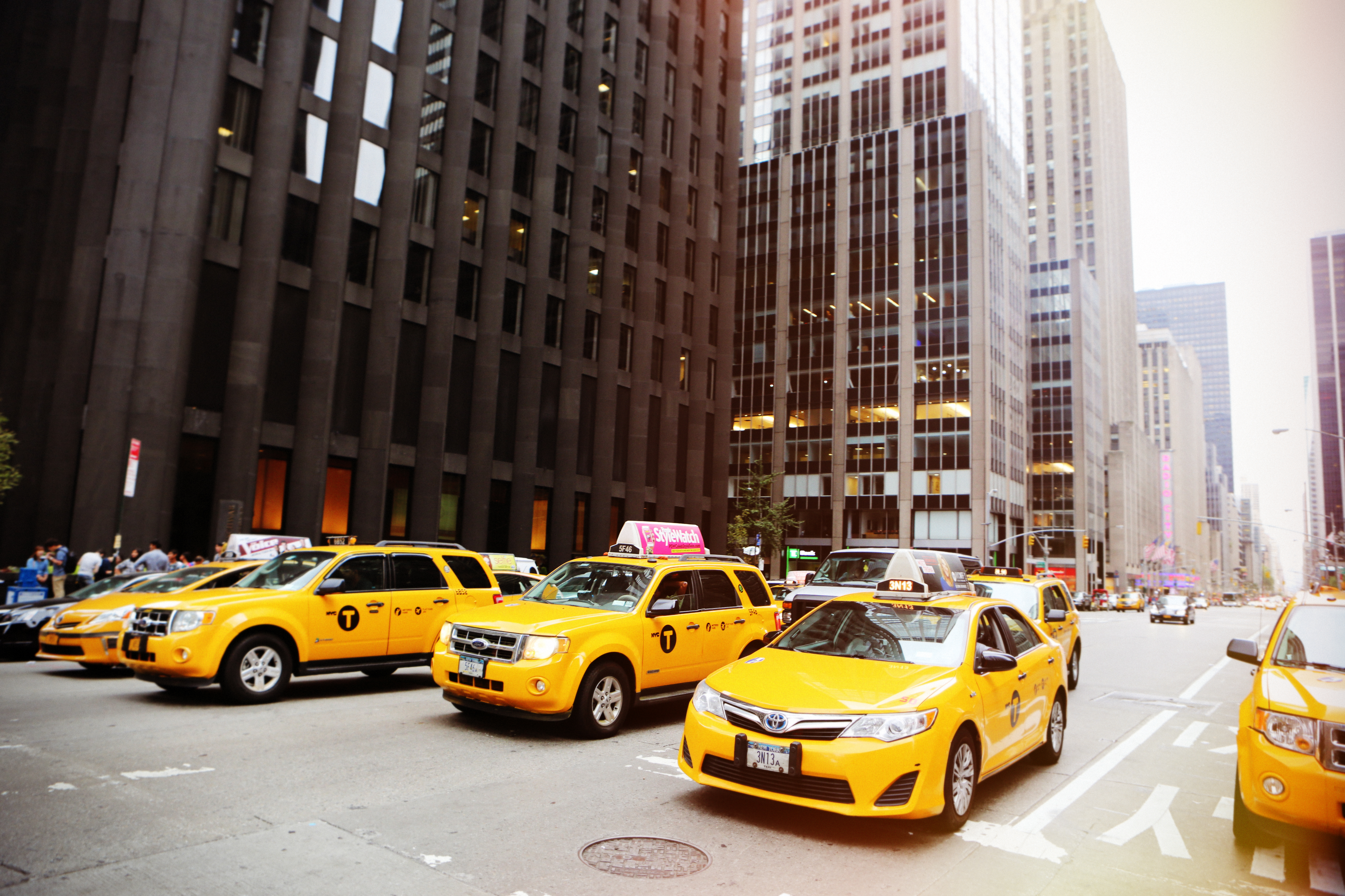 Ny-Taxi, Downtown, Newyork, Road, Street, HQ Photo