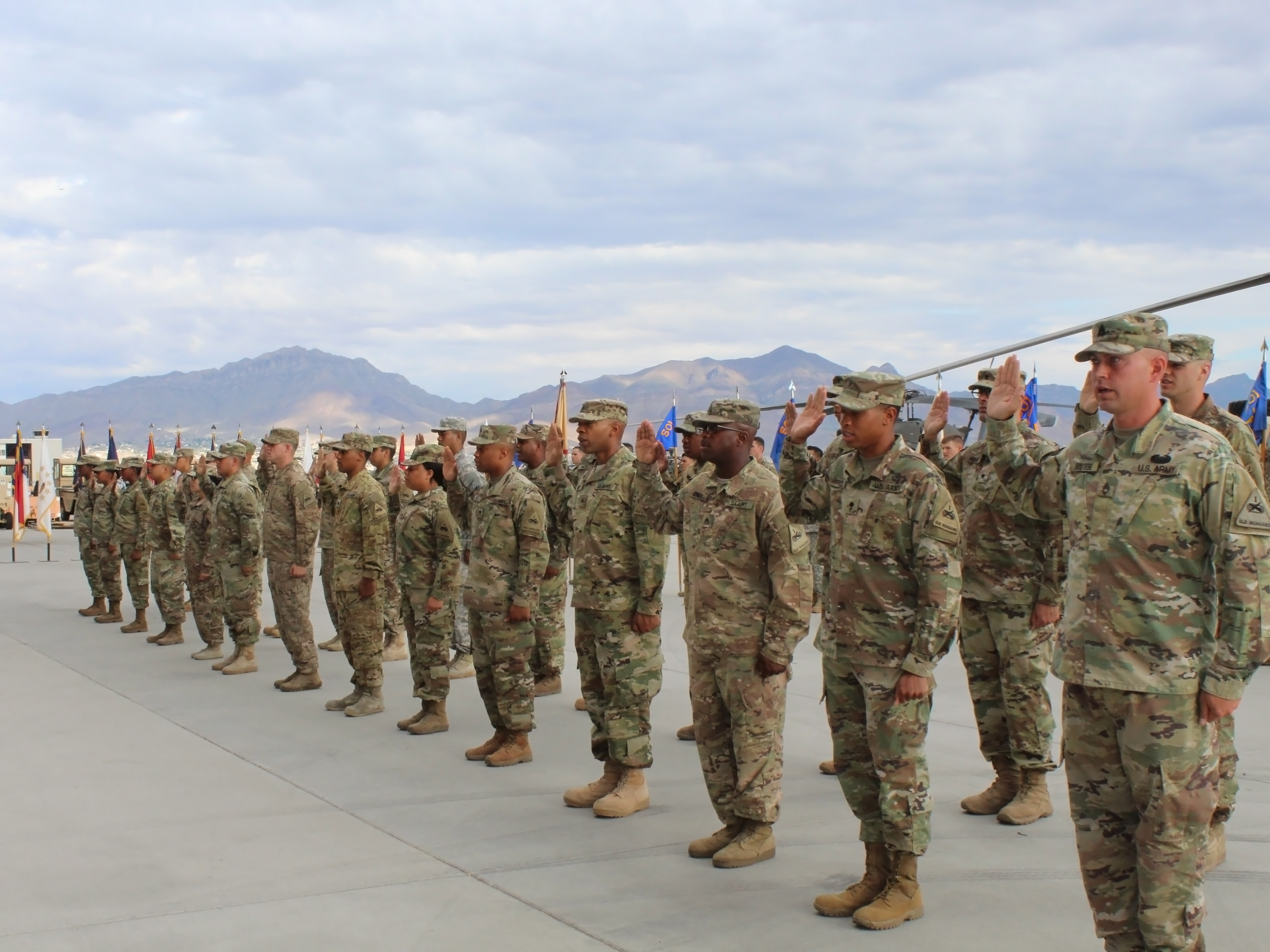Oath in army photo