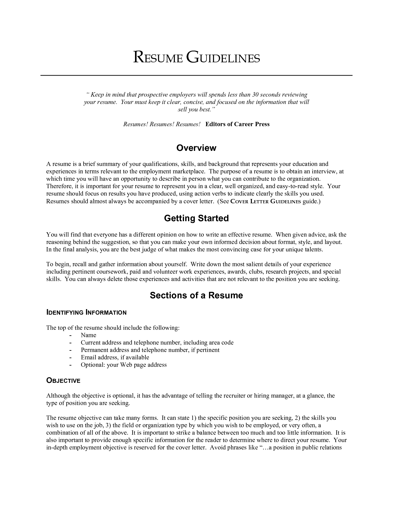 Objective Lines On Resumes Resume BuilderResume Objective Examples ...