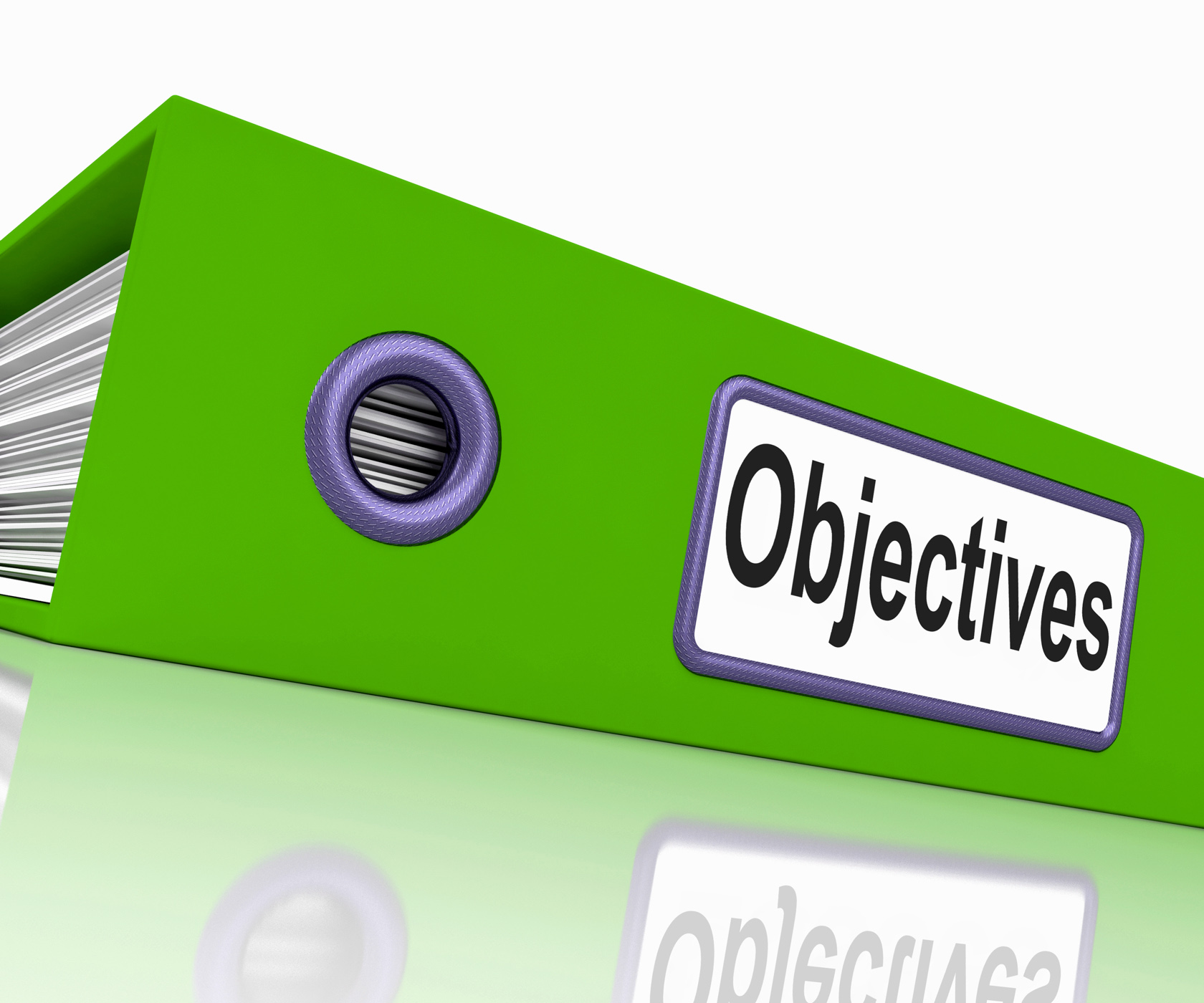 Objectives file means correspondence business and intent photo