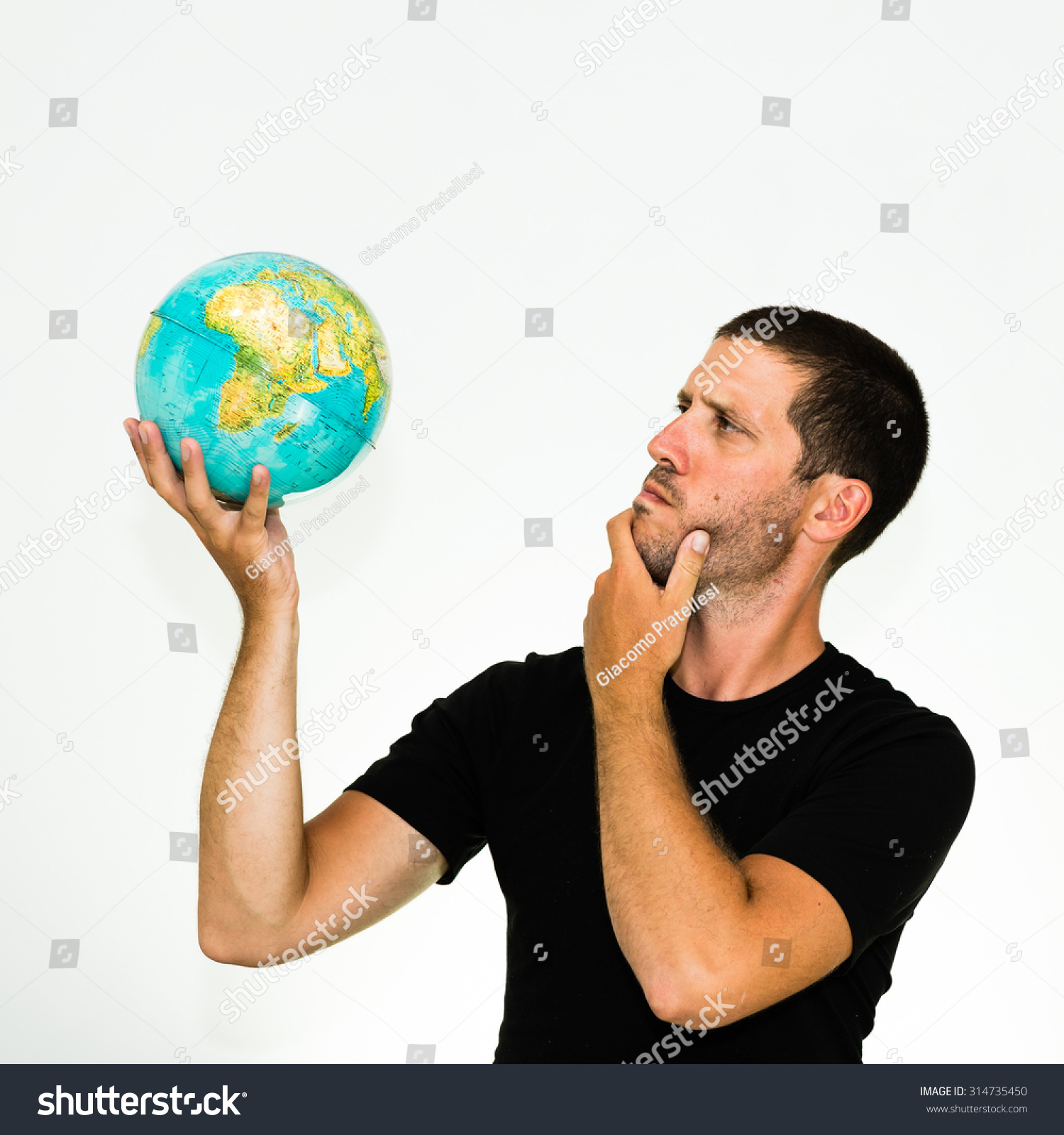 Observing man photo