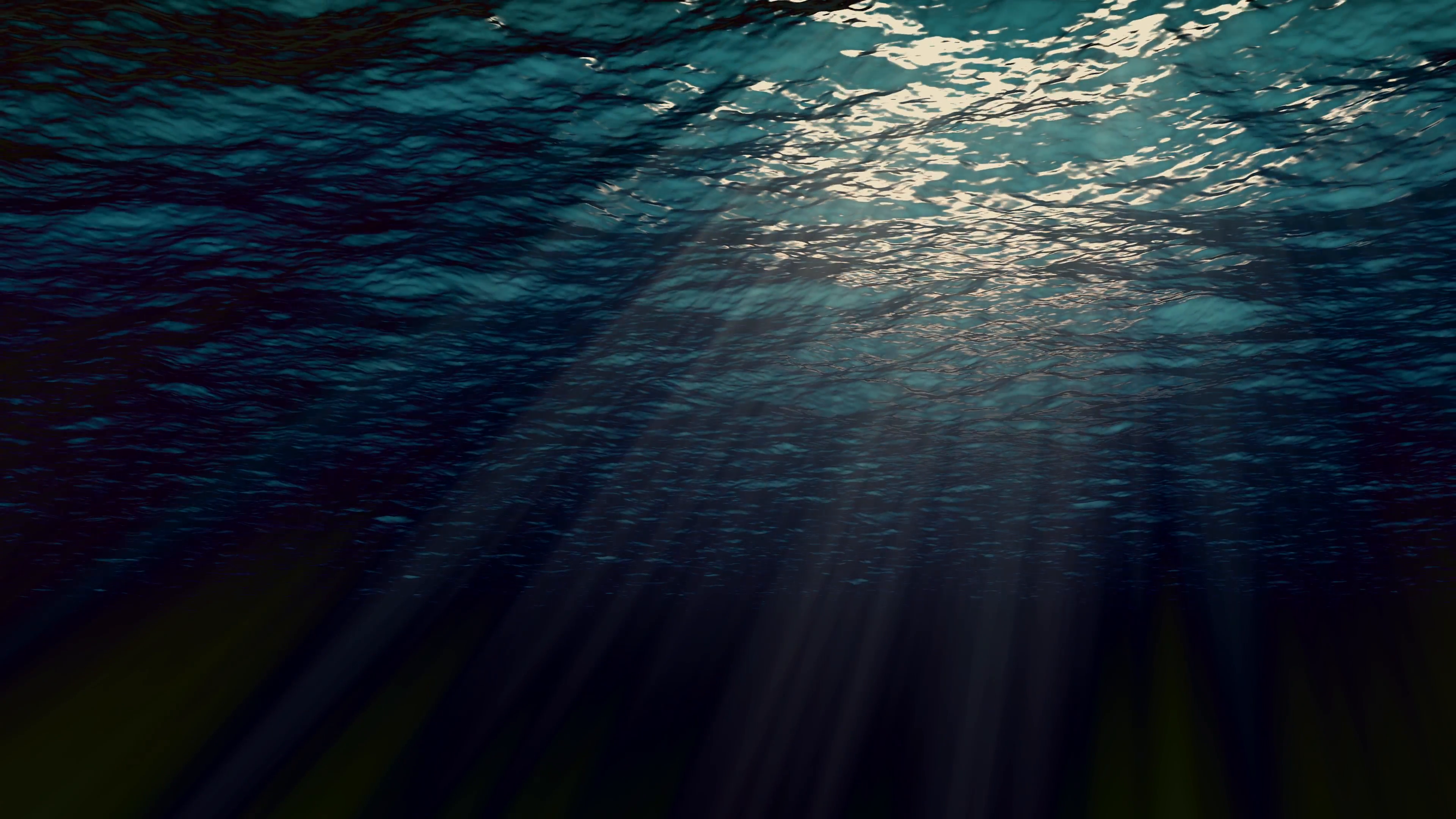 High quality Looping animation of ocean waves from underwater. Light ...