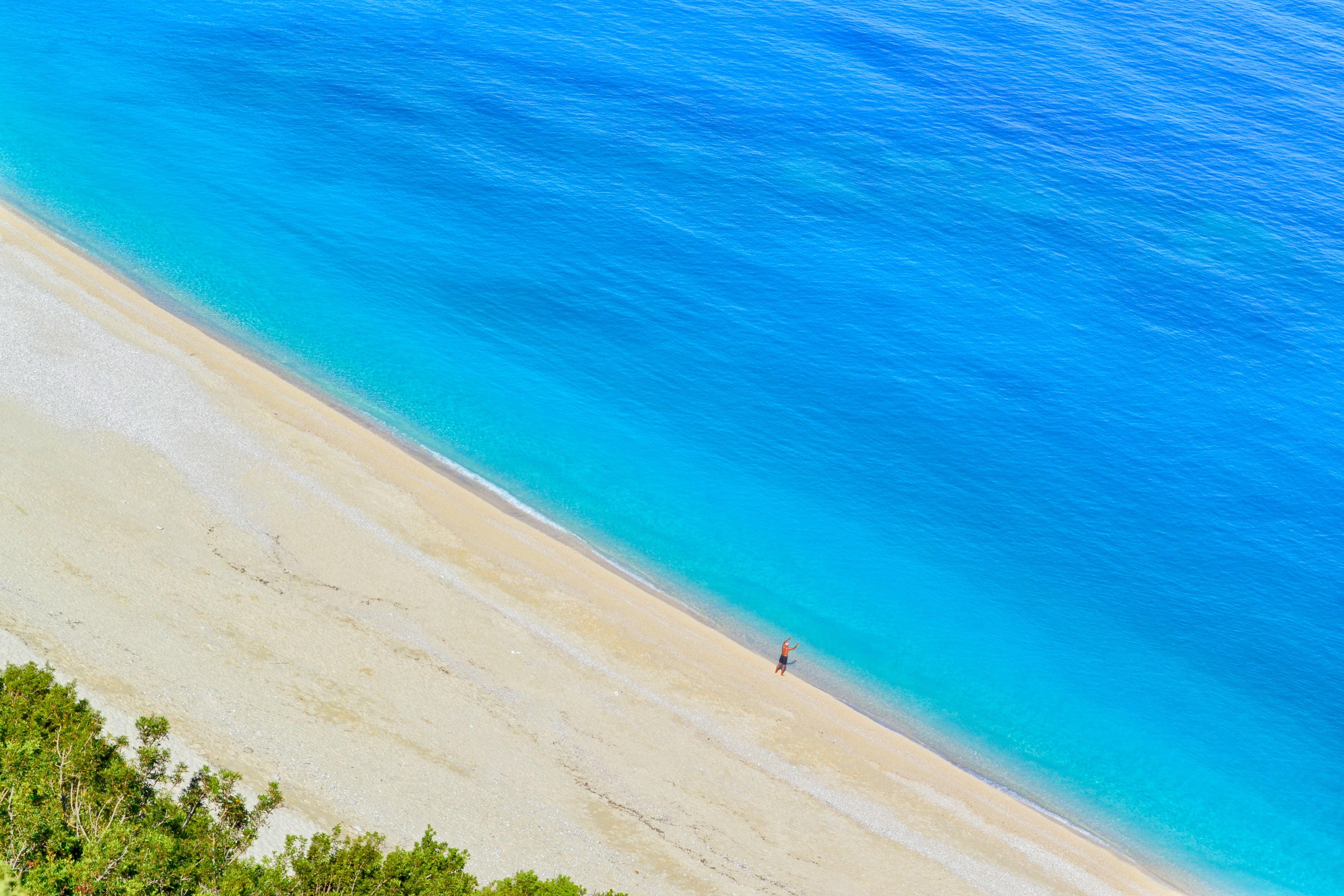 Ocean near sand photo