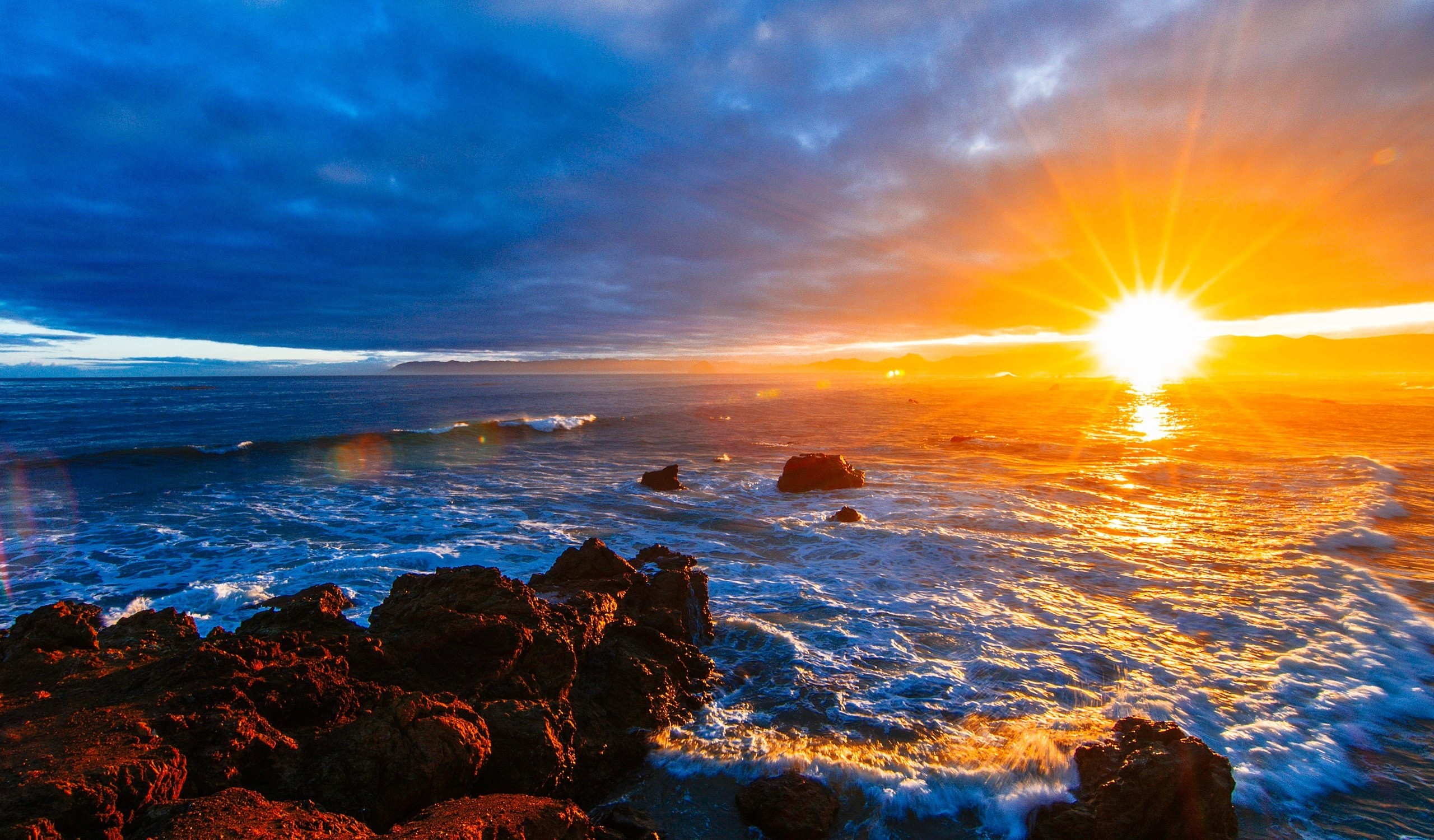 Sunsets: Ocean Shore Sea Nature Sunrise Sky Water Clouds Sunlight ...