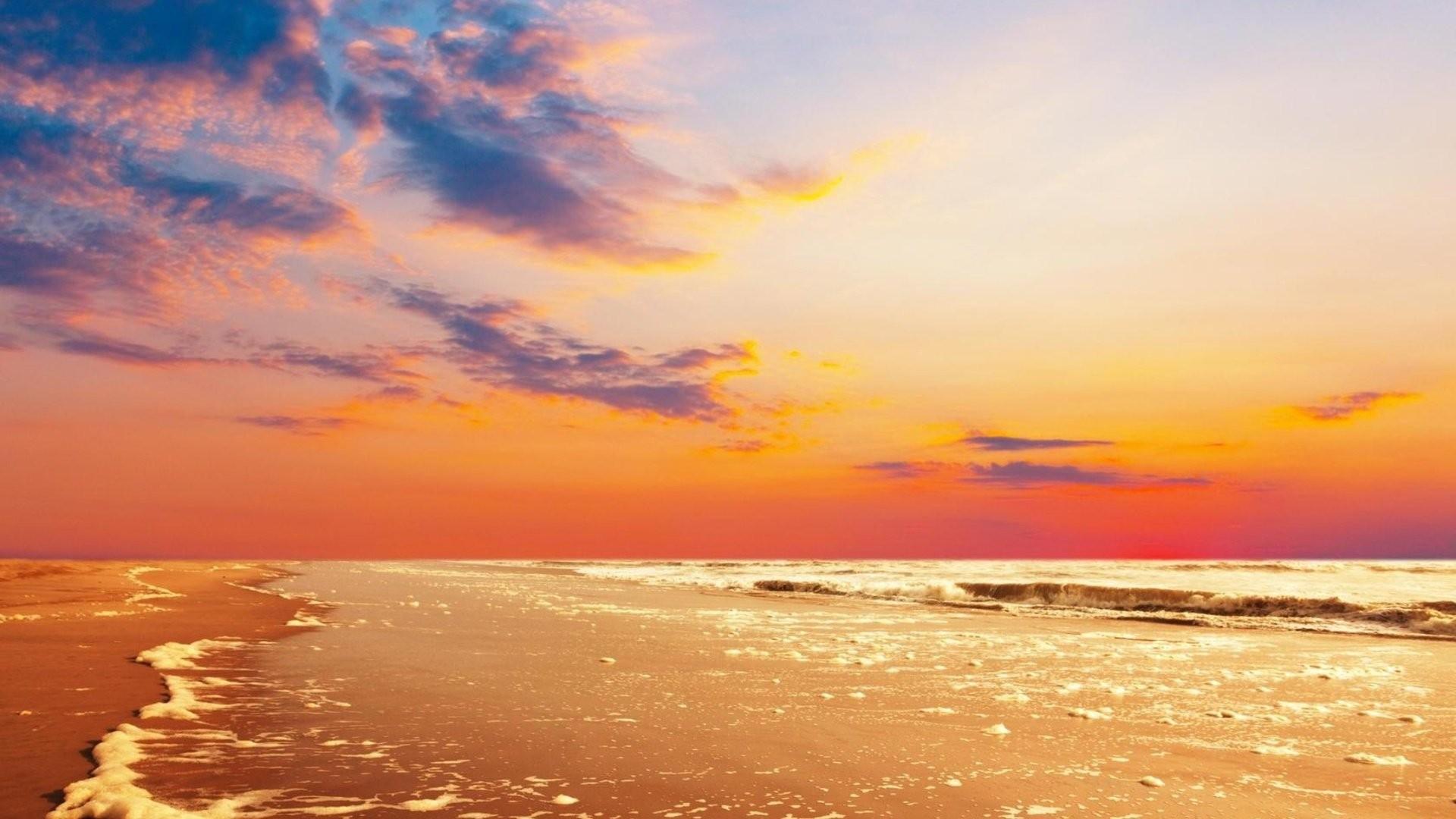 Beaches: Beauty Landscape Beach Sunset Sky Summer Sea Clouds Nature ...