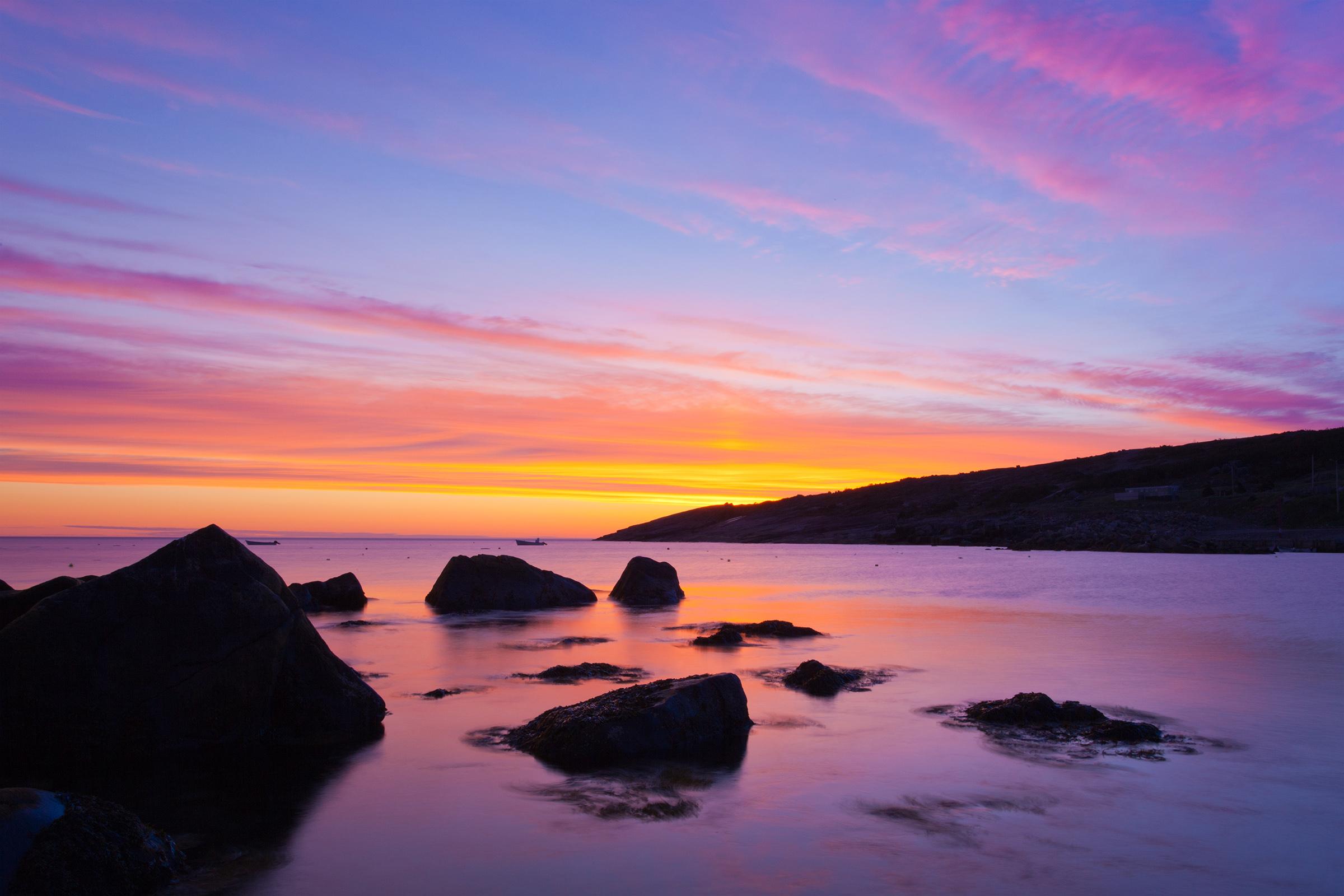 Ocean sunrise photo