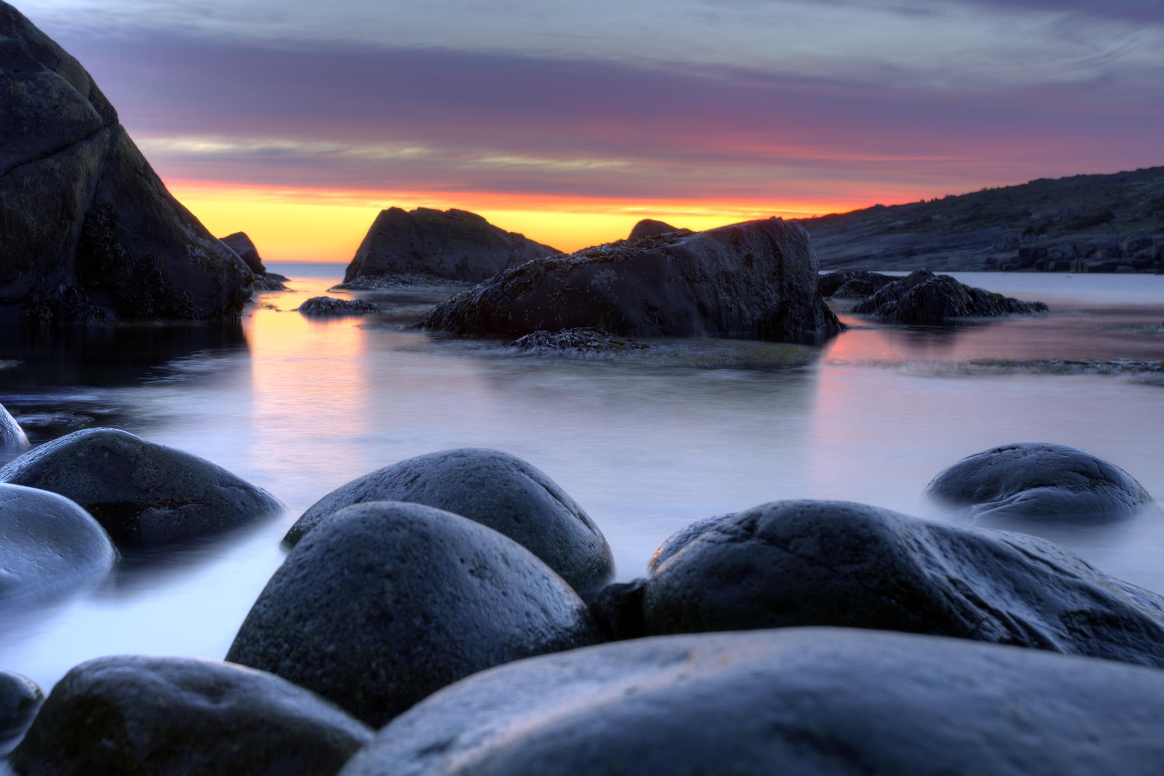 Ocean Sunrise, Atlantic, Sunny, Sky, Summer, HQ Photo