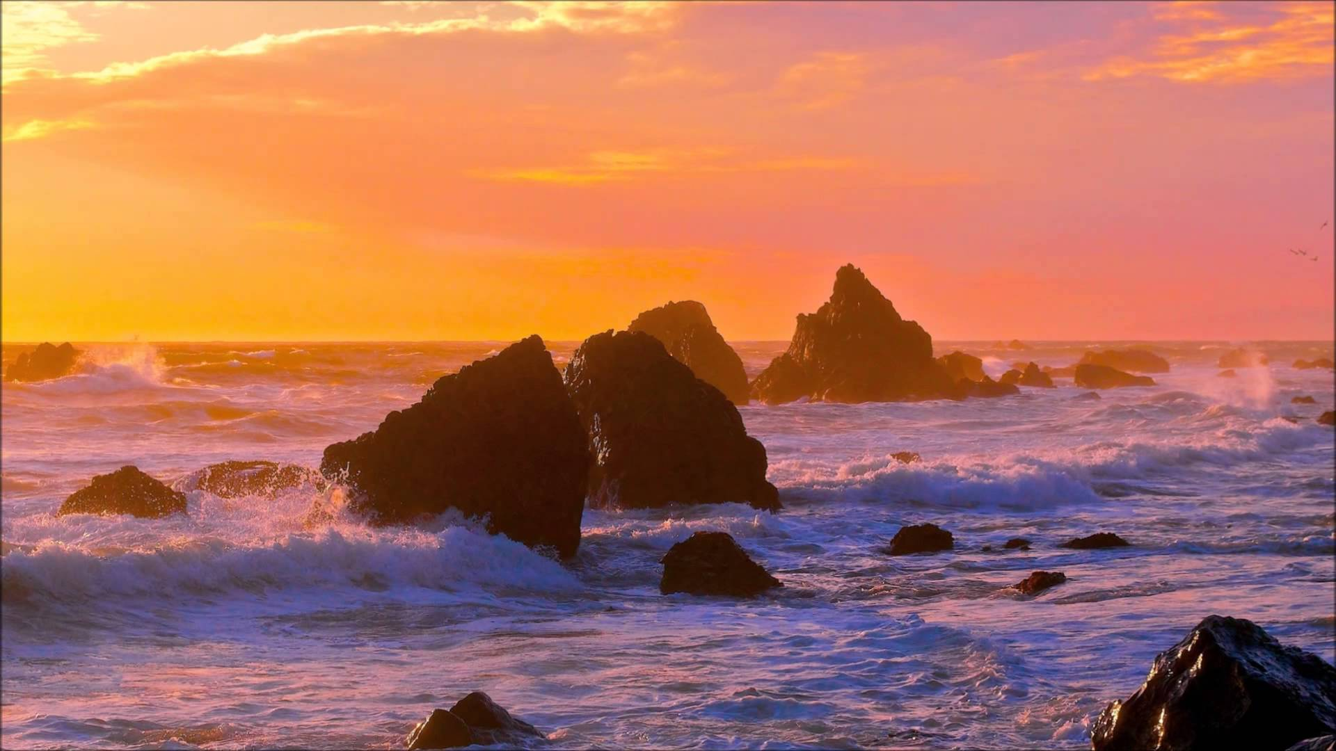 Beautiful Ocean Sunset - YouTube