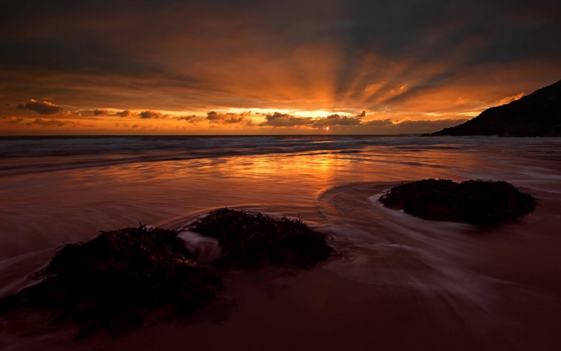 Ocean sunset wallpaper - Beach Wallpapers