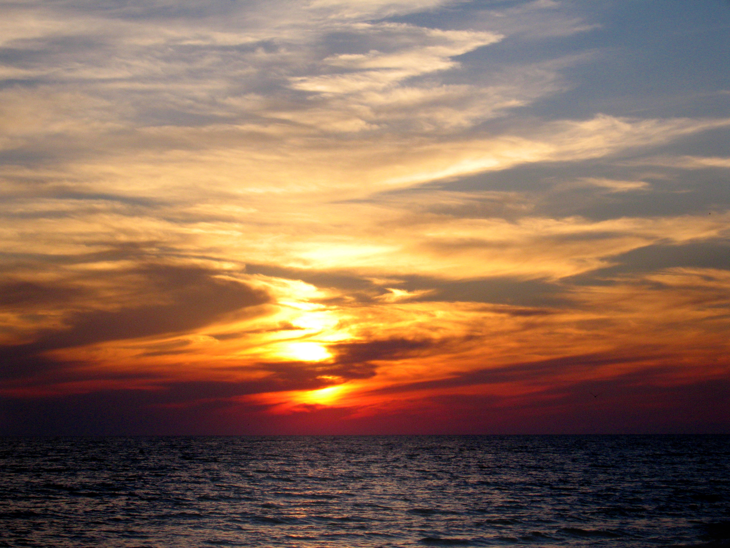 Ocean Sunset, Sunset, Travel, Vacation, Water, HQ Photo