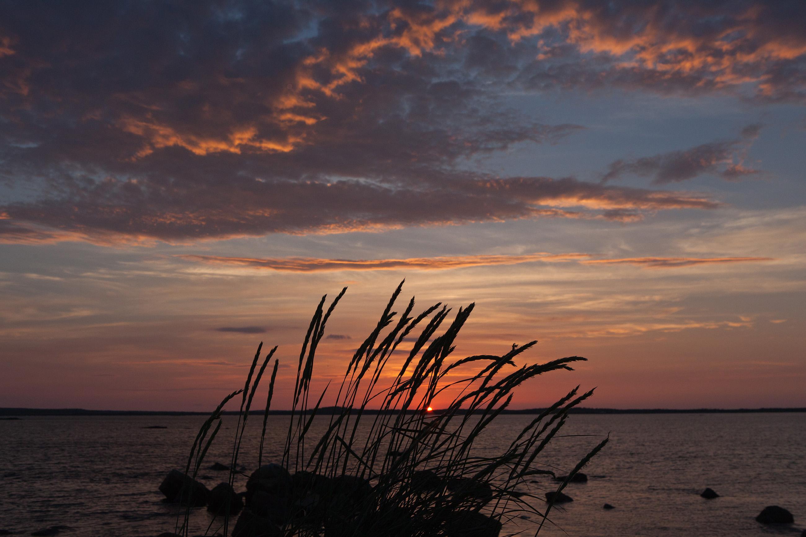 Ocean Sunset, Abstract, Sunlight, Scene, Scenery, HQ Photo