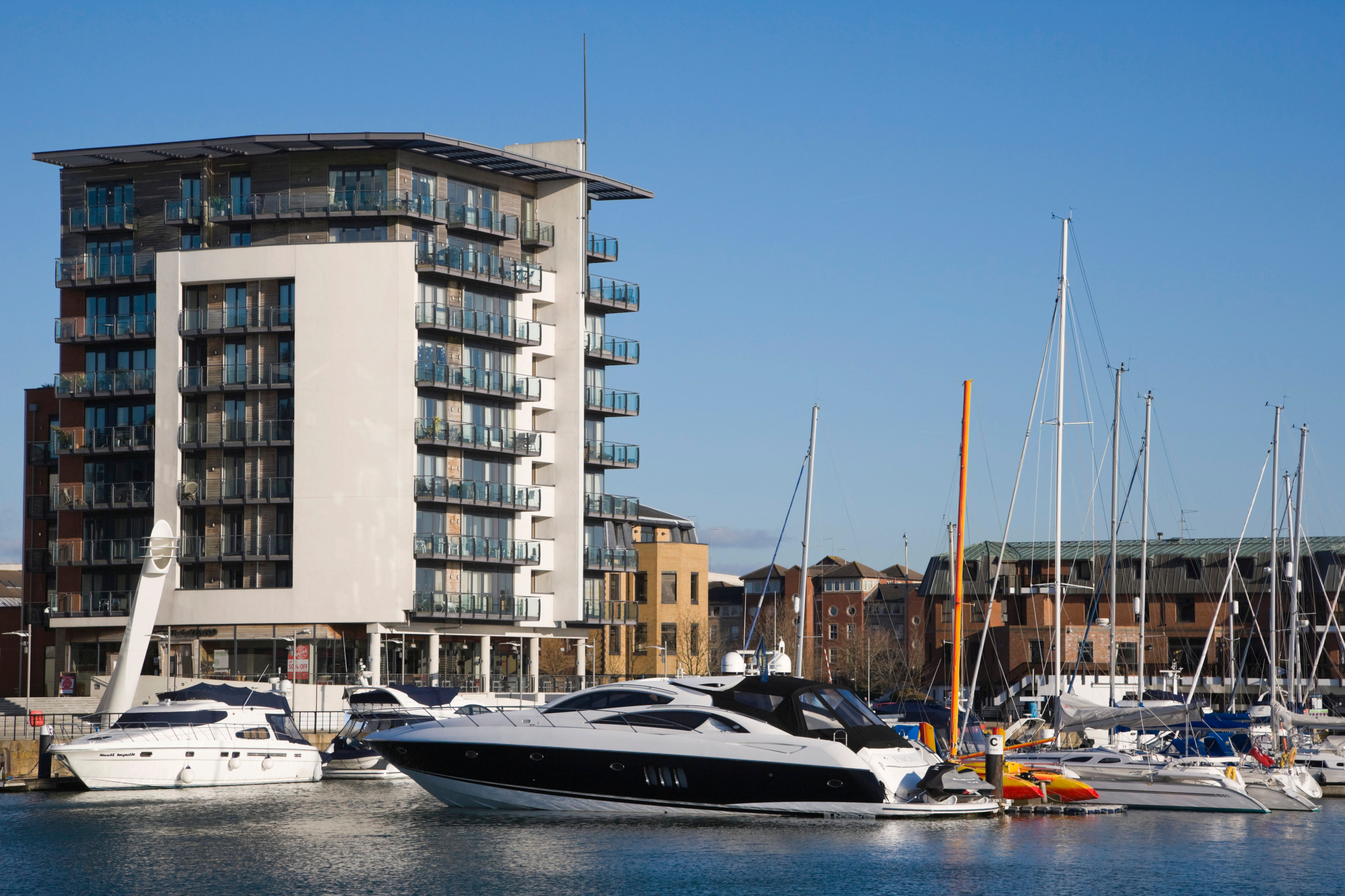 Admirals Quay, luxury apartments, at Ocean Village Marina ...