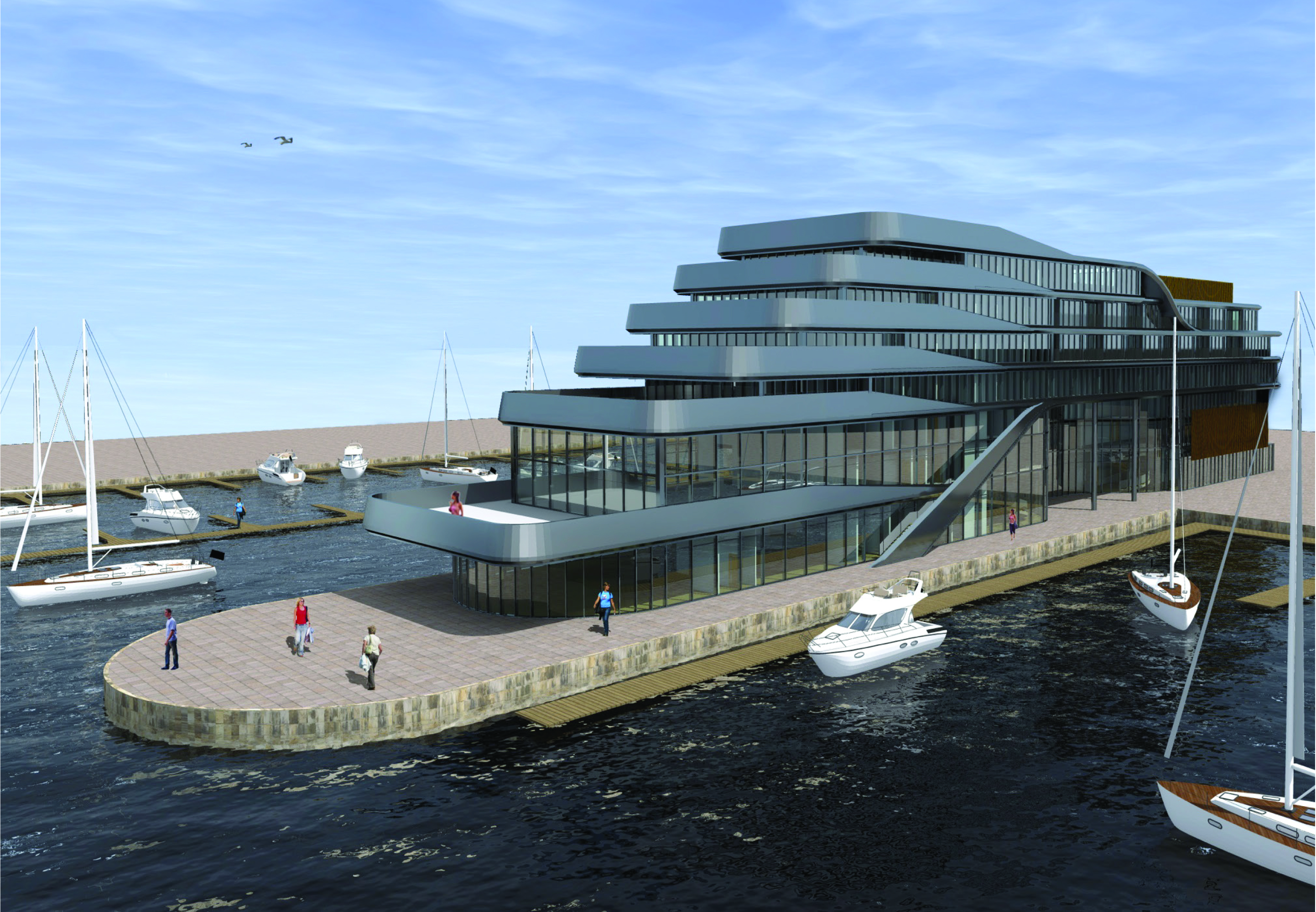 Preliminary work is now underway for luxury new Southampton Harbour ...