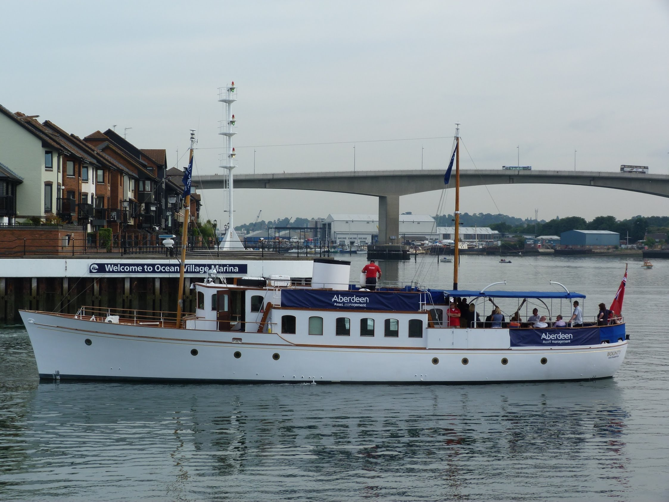 MY Bounty built 1936,(Motor Yacht), Ocean Village Southampton 8th ...