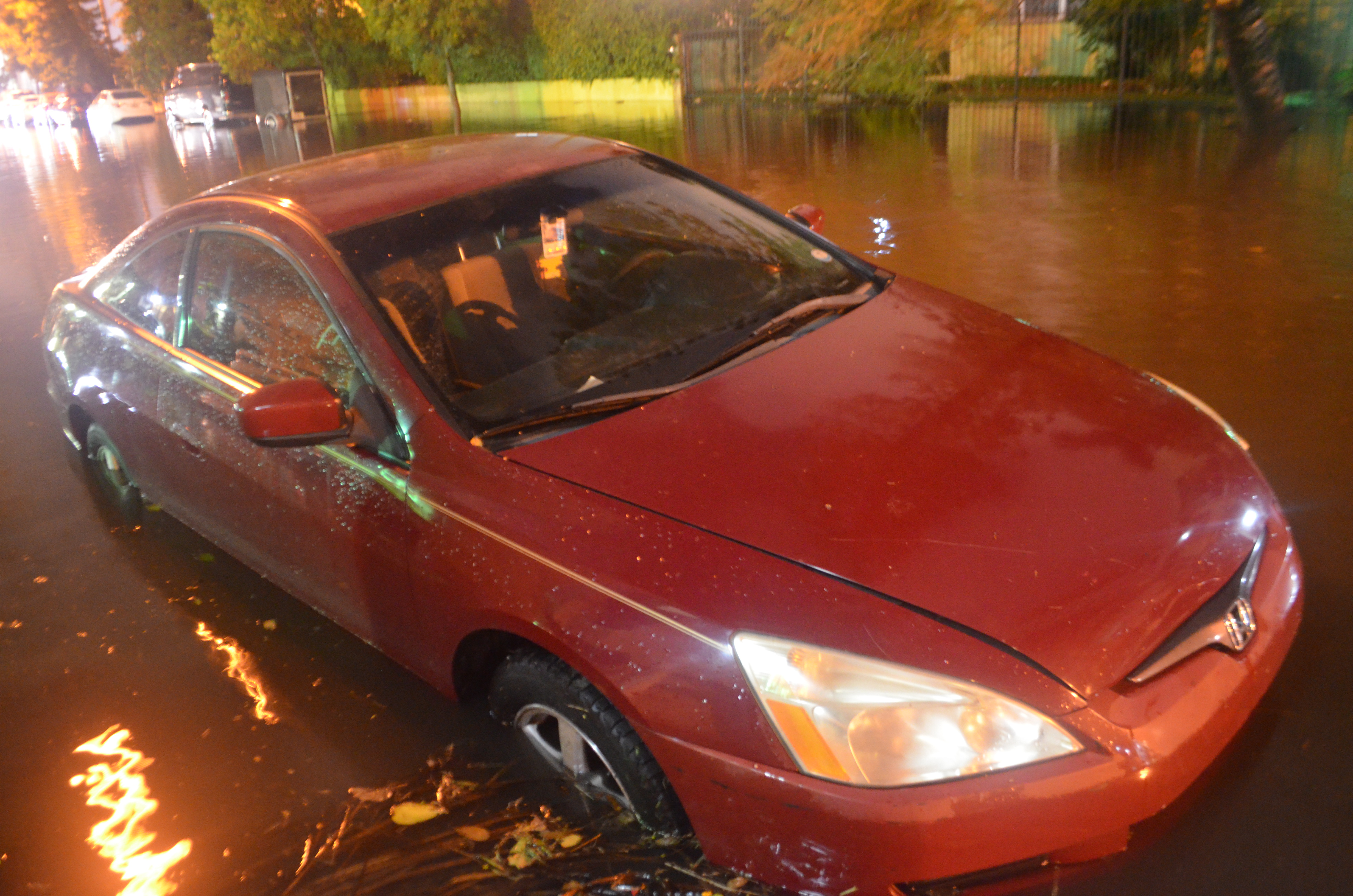 October 15 night 4.0 ft tide plus rain good one flooded car Edgewater, Car, Vehicle, HQ Photo