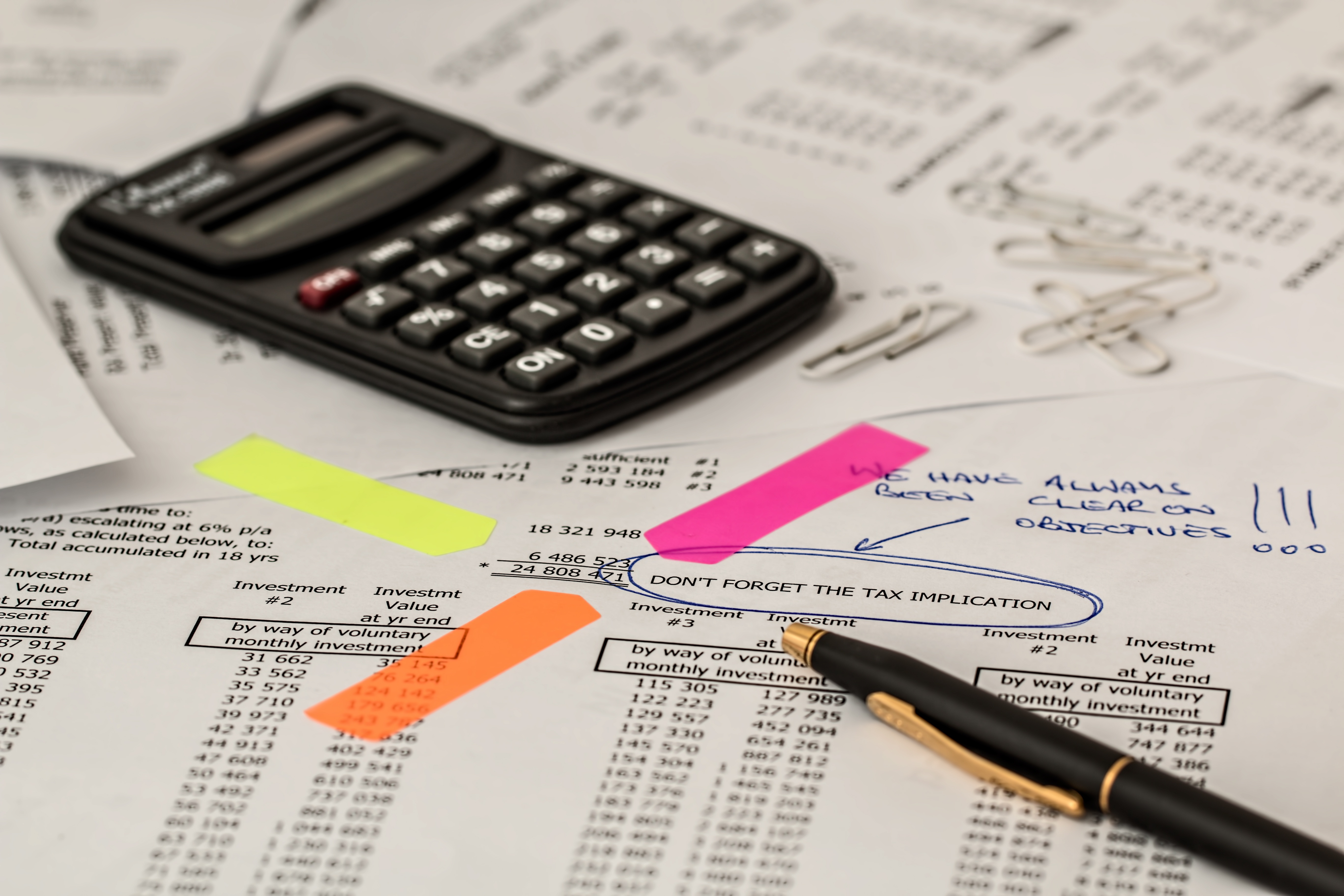 Office Work, Calculation, Calculator, Office, Paper, HQ Photo