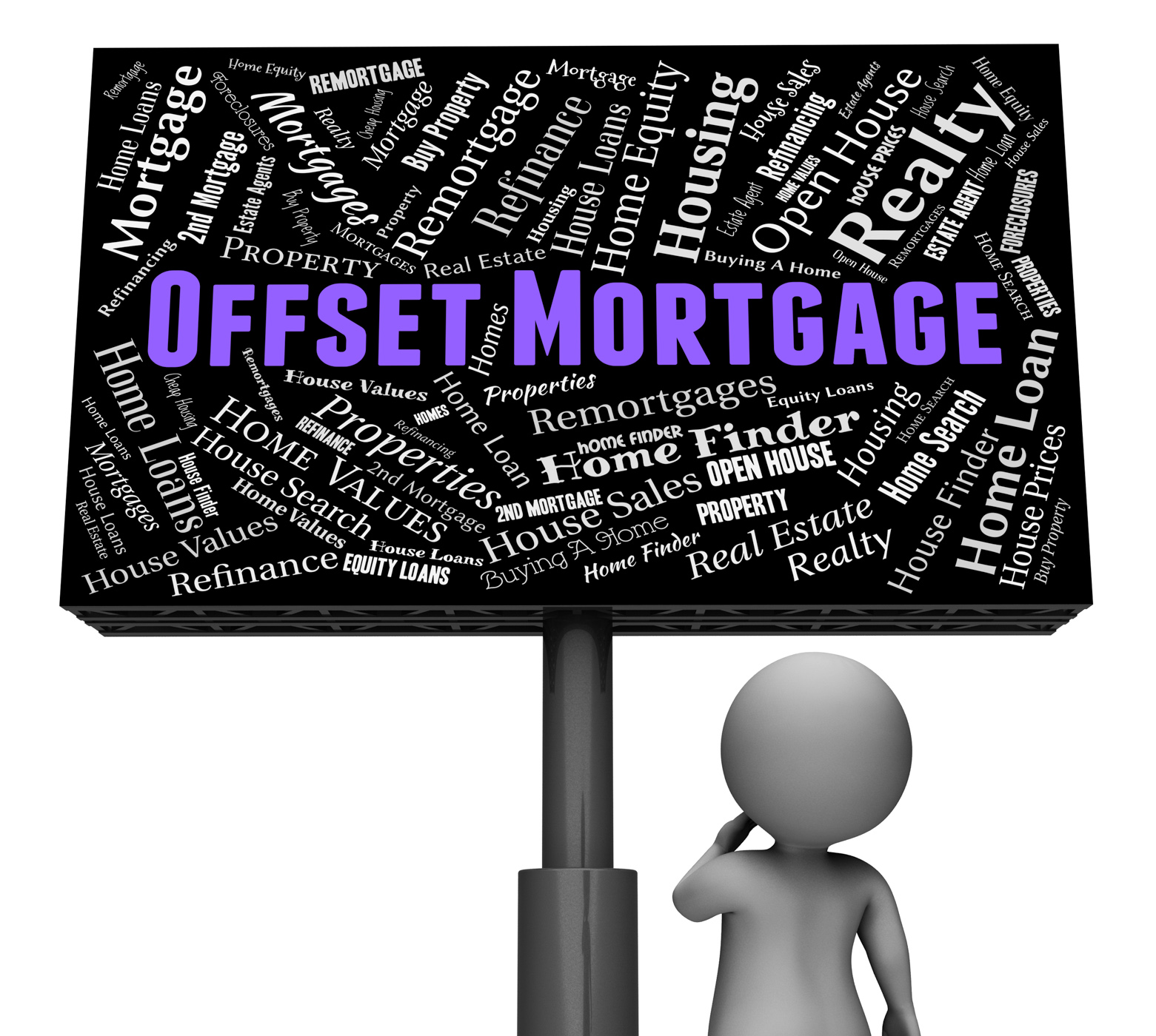 Offset mortgage represents home loan and board photo