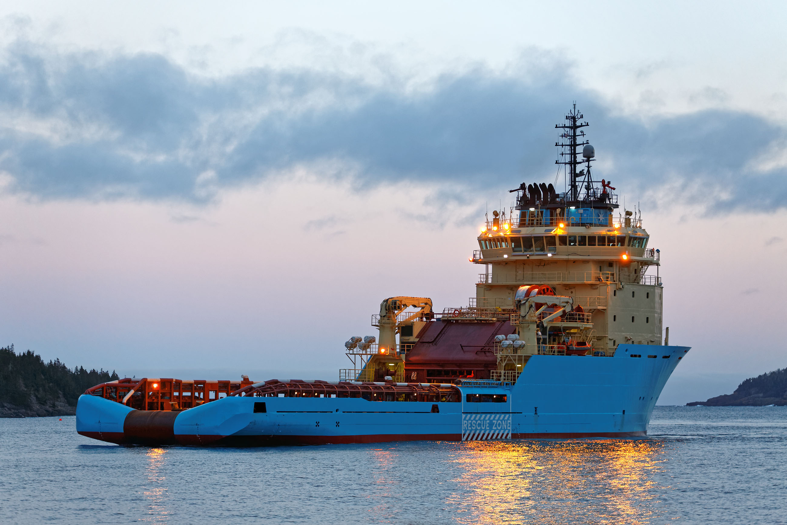 Offshore supply vessel, Black, Petroleum, Water, Underway, HQ Photo