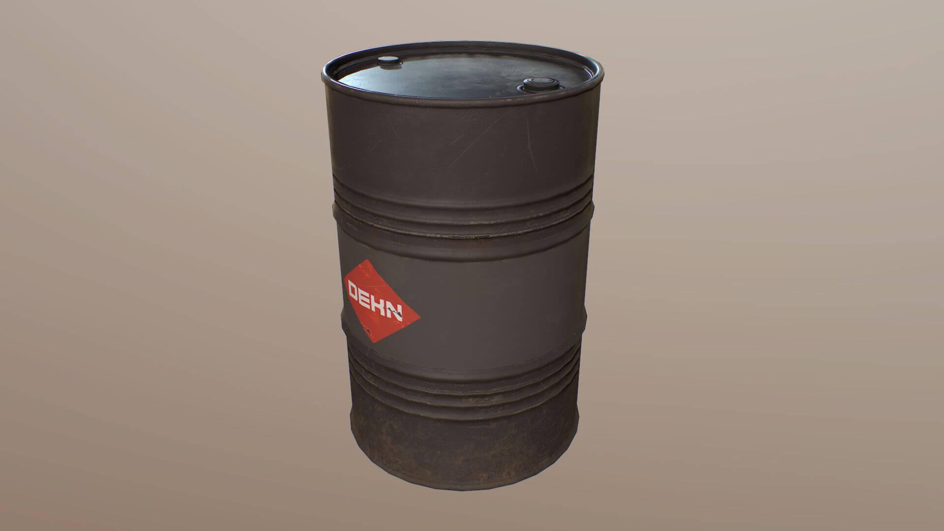 55 Gallon Oil Drum 3D Model