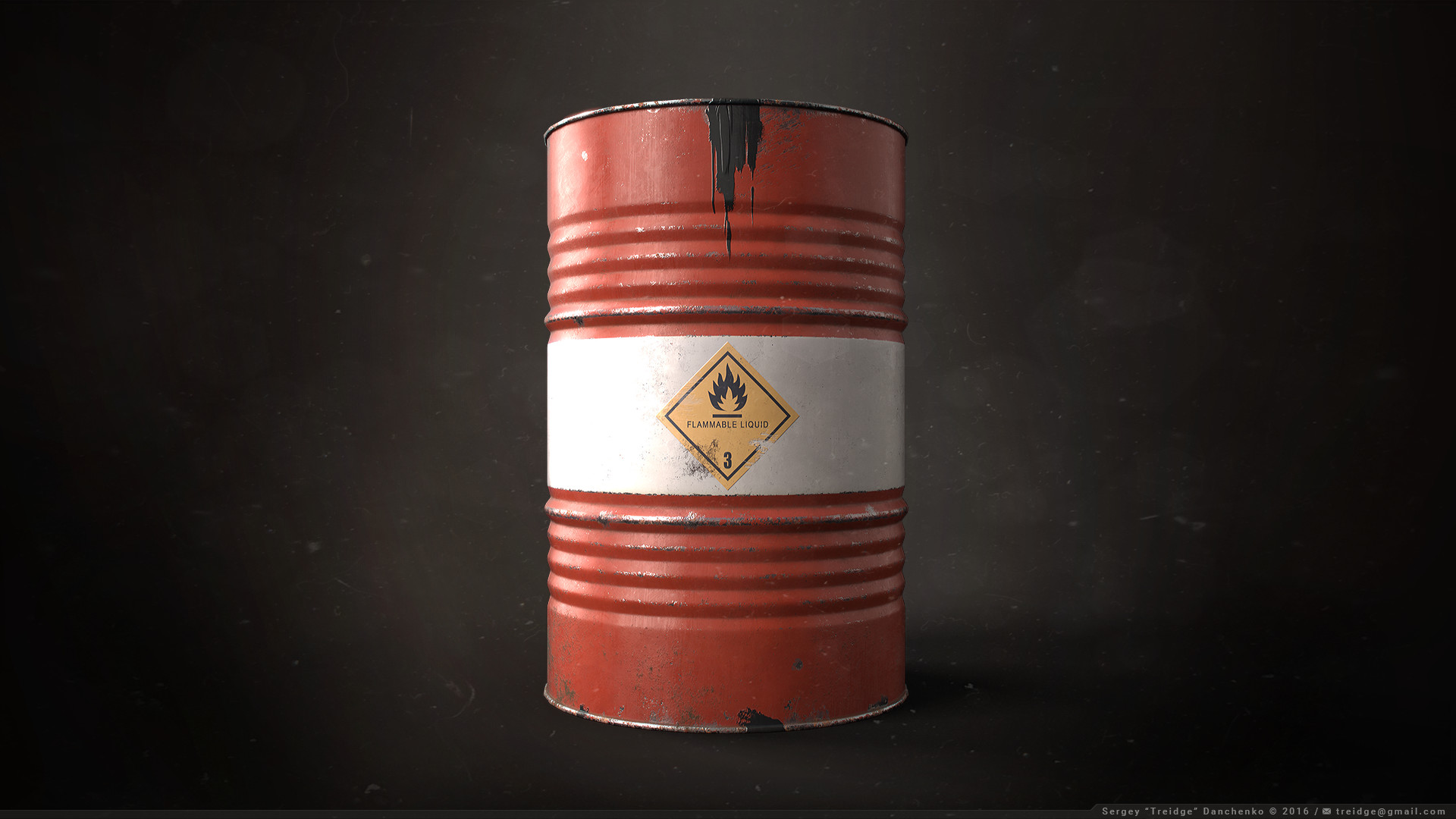 ArtStation - Oil Drum / Barrel Prop, Sergey Danchenko