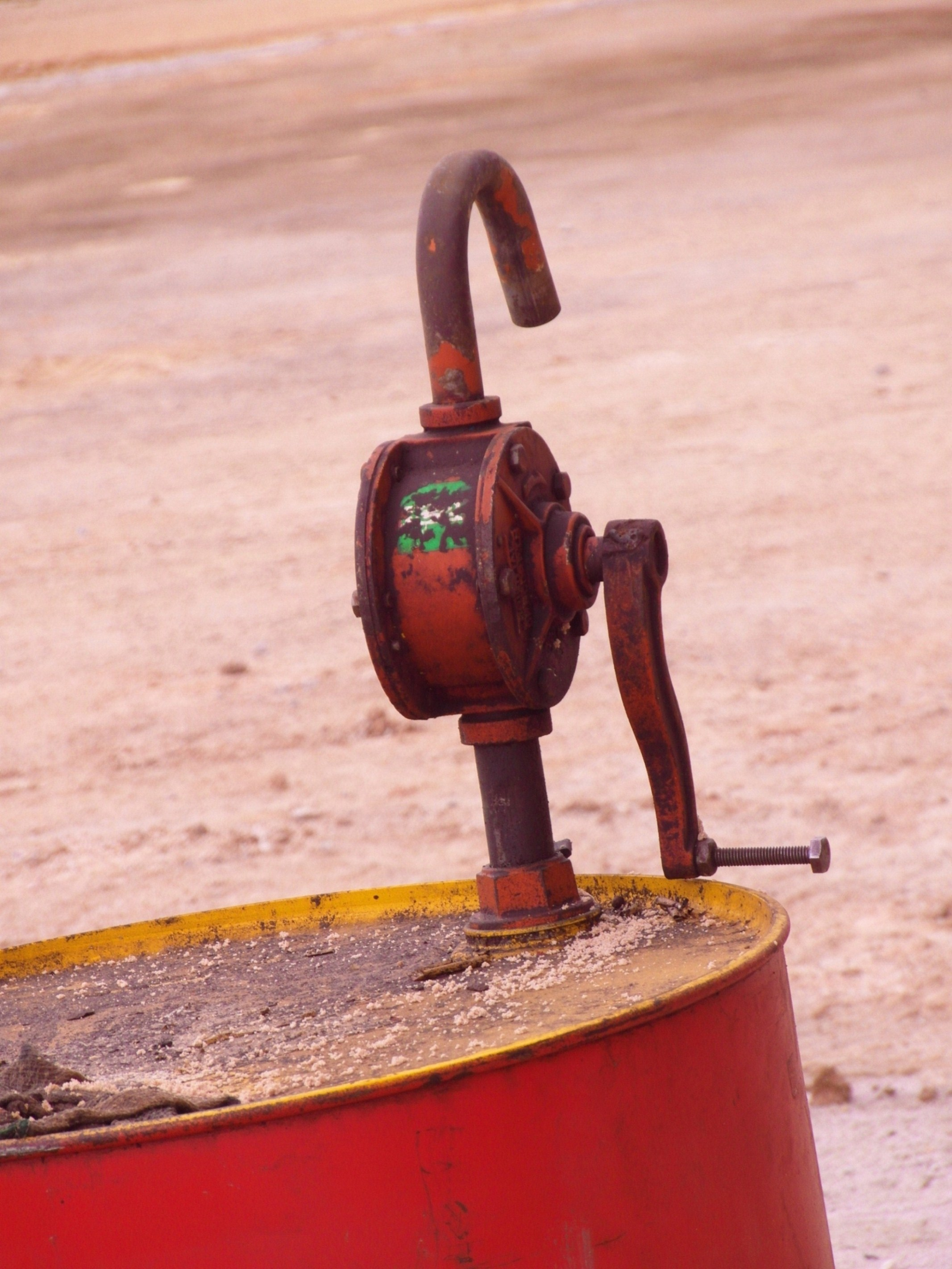 Oil drum with pump photo