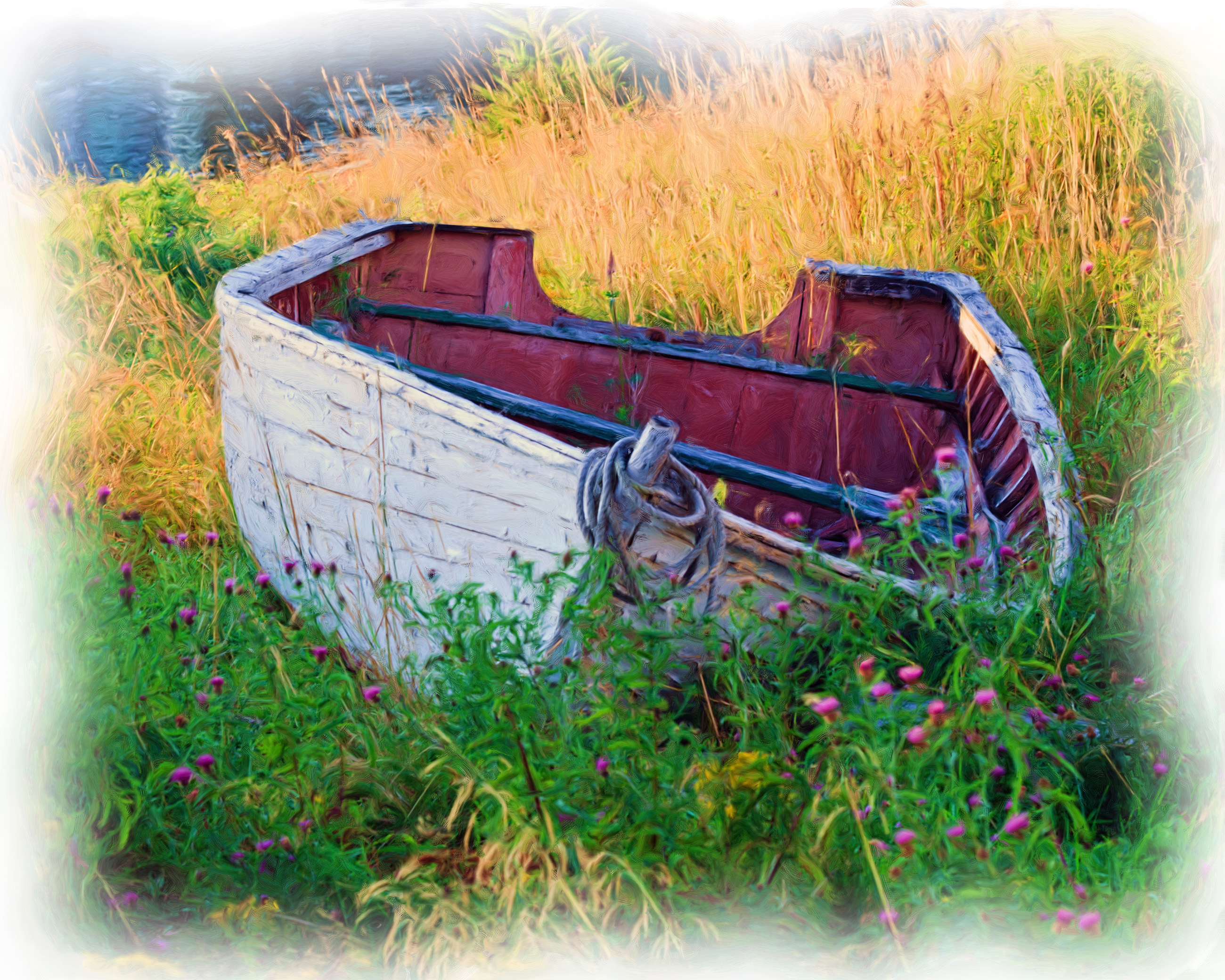 Oil Painting of an Old Boat, Artistic, Old, Strokes, Ships, HQ Photo