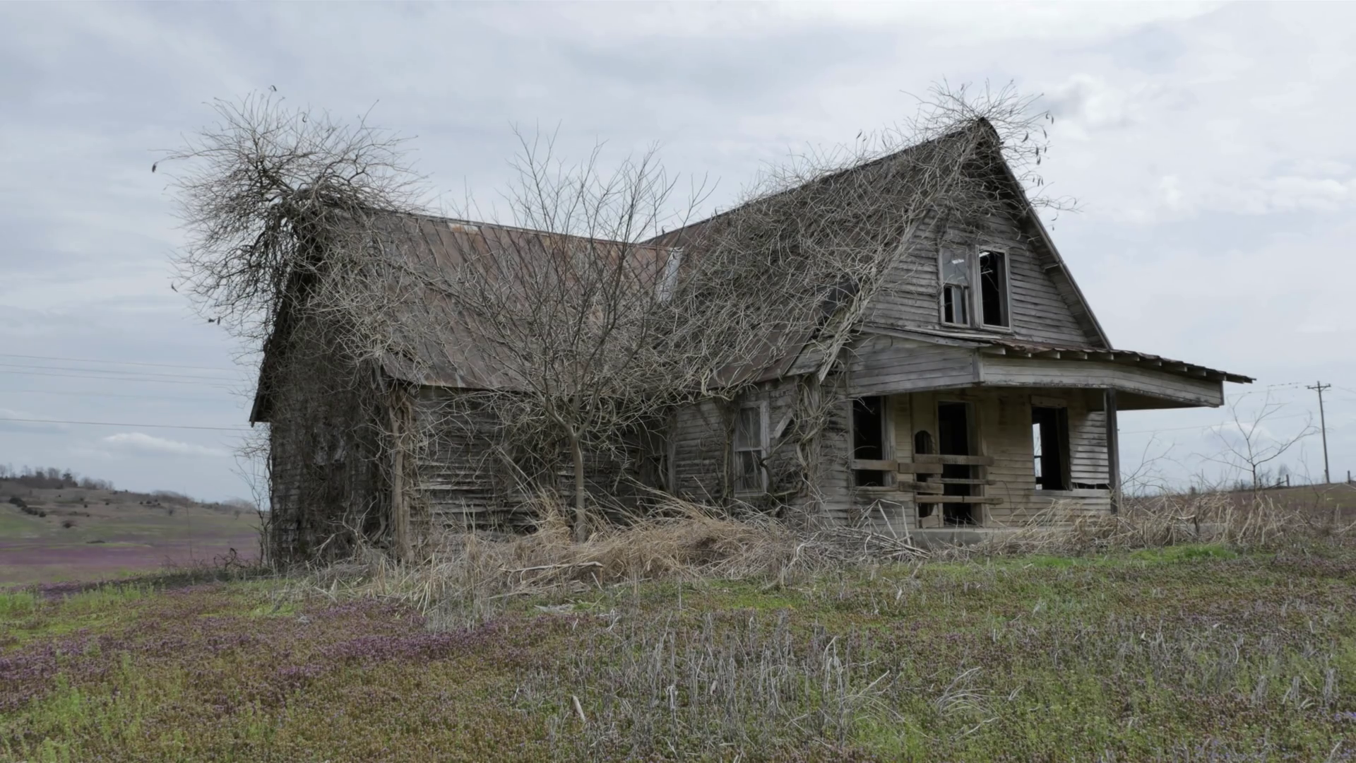 Old Abandoned House in the Middle of Nowhere Stock Video Footage ...