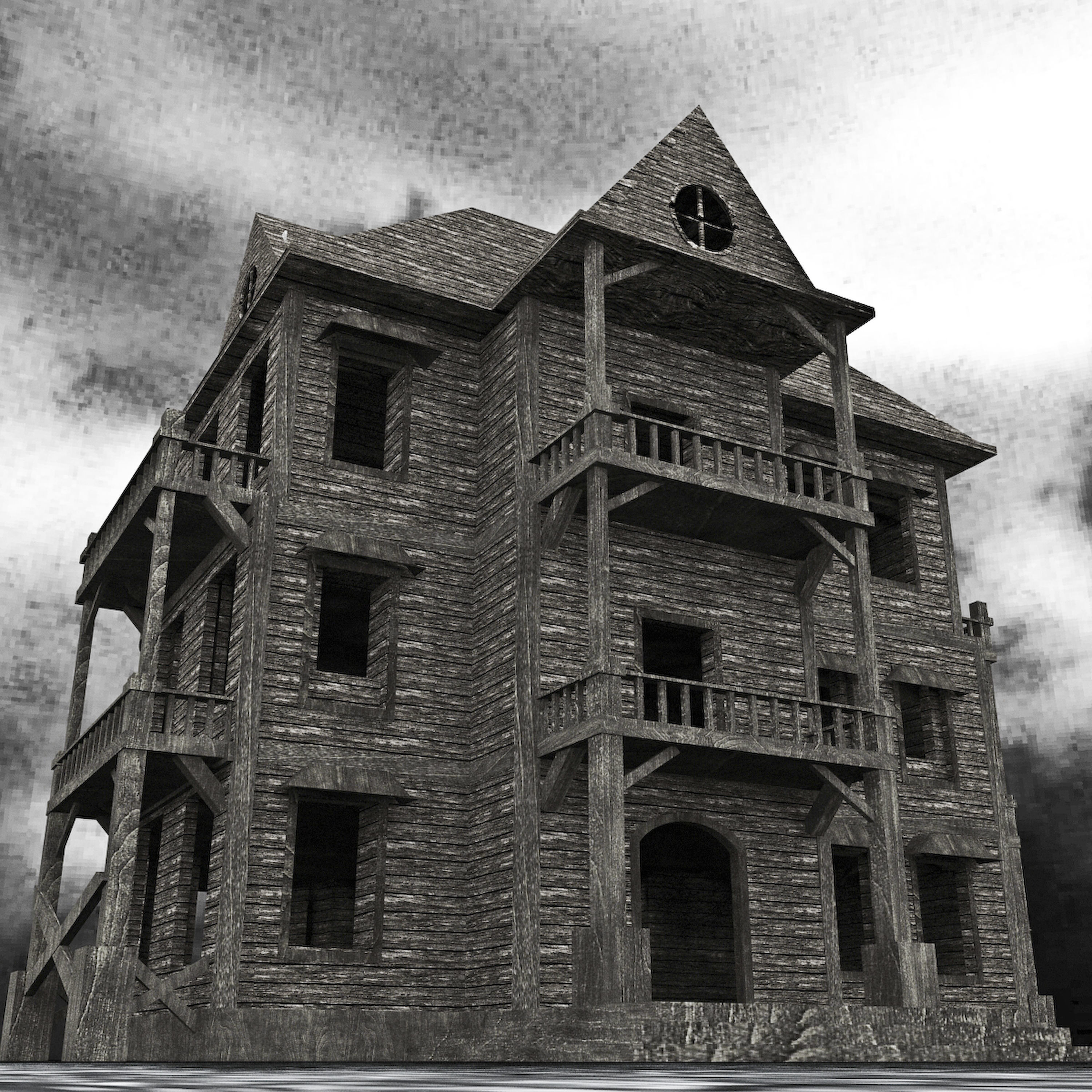 Old Abandoned House 3D asset | CGTrader