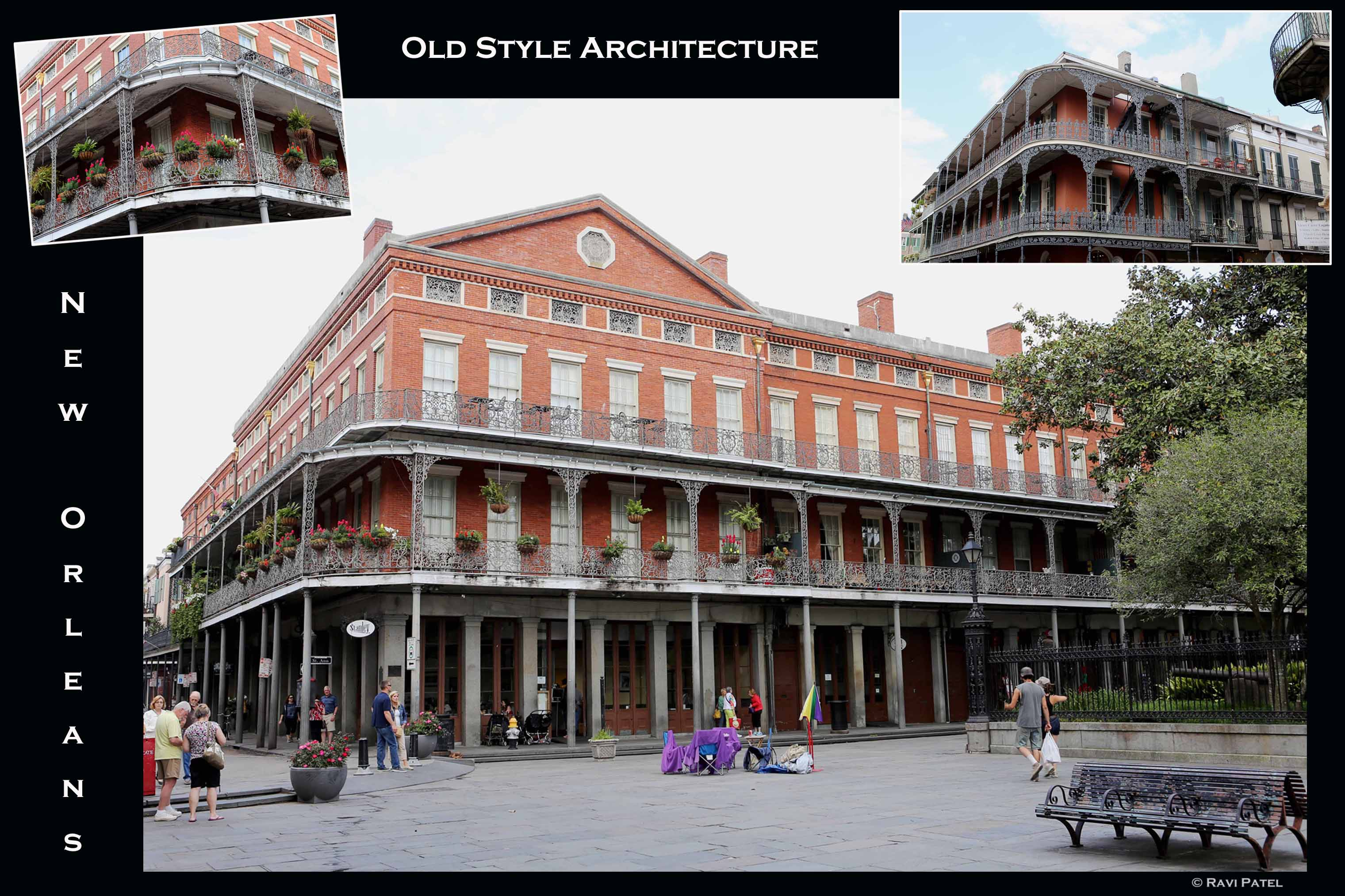 Louisiana – New Orleans Old Style Architecture | Photos by Ravi