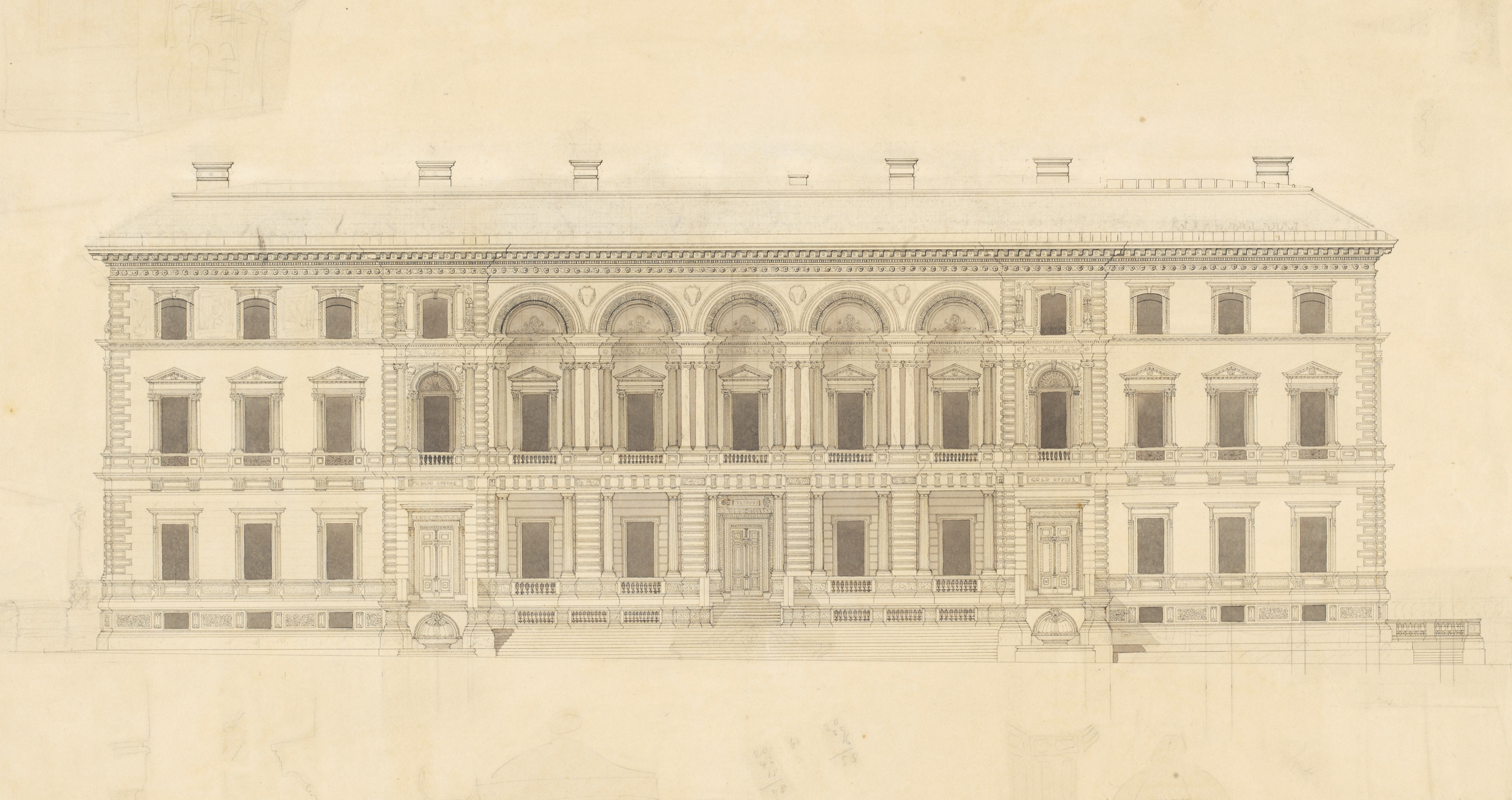 Old Architecture Drawing at GetDrawings.com | Free for personal use ...