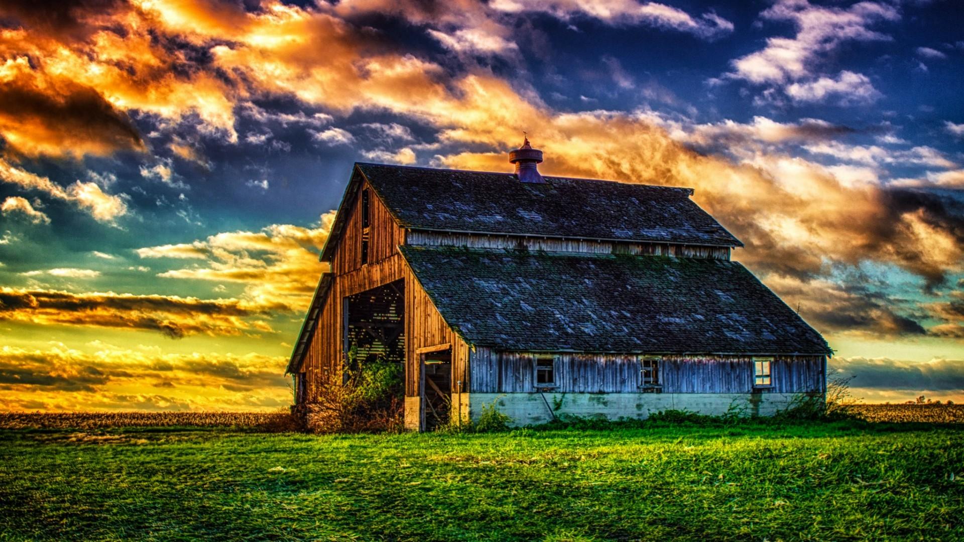 Abandoned Old Barn In The Field Wallpaper | Wallpaper Studio 10 ...