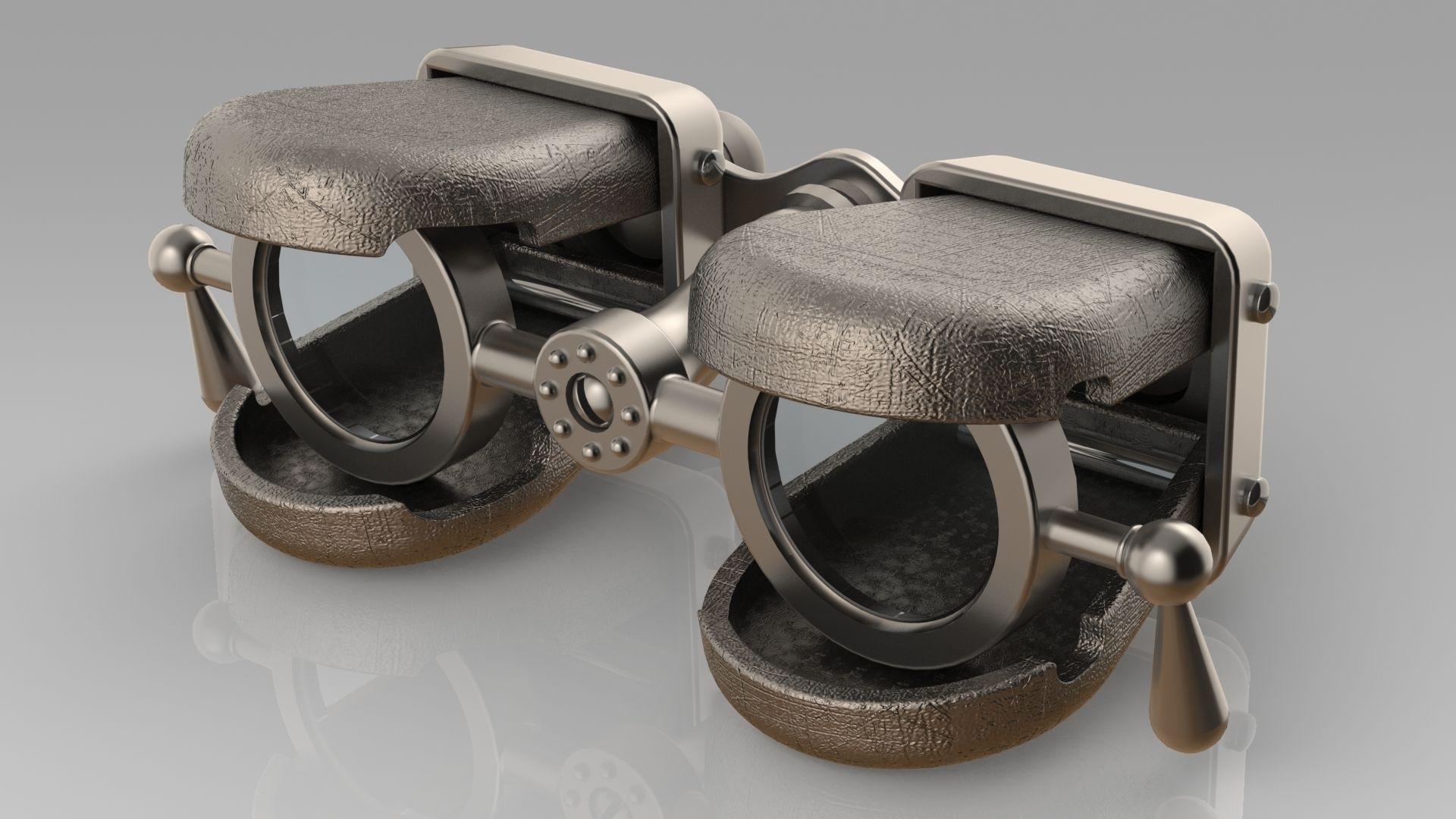 binoculars old 3D | CGTrader