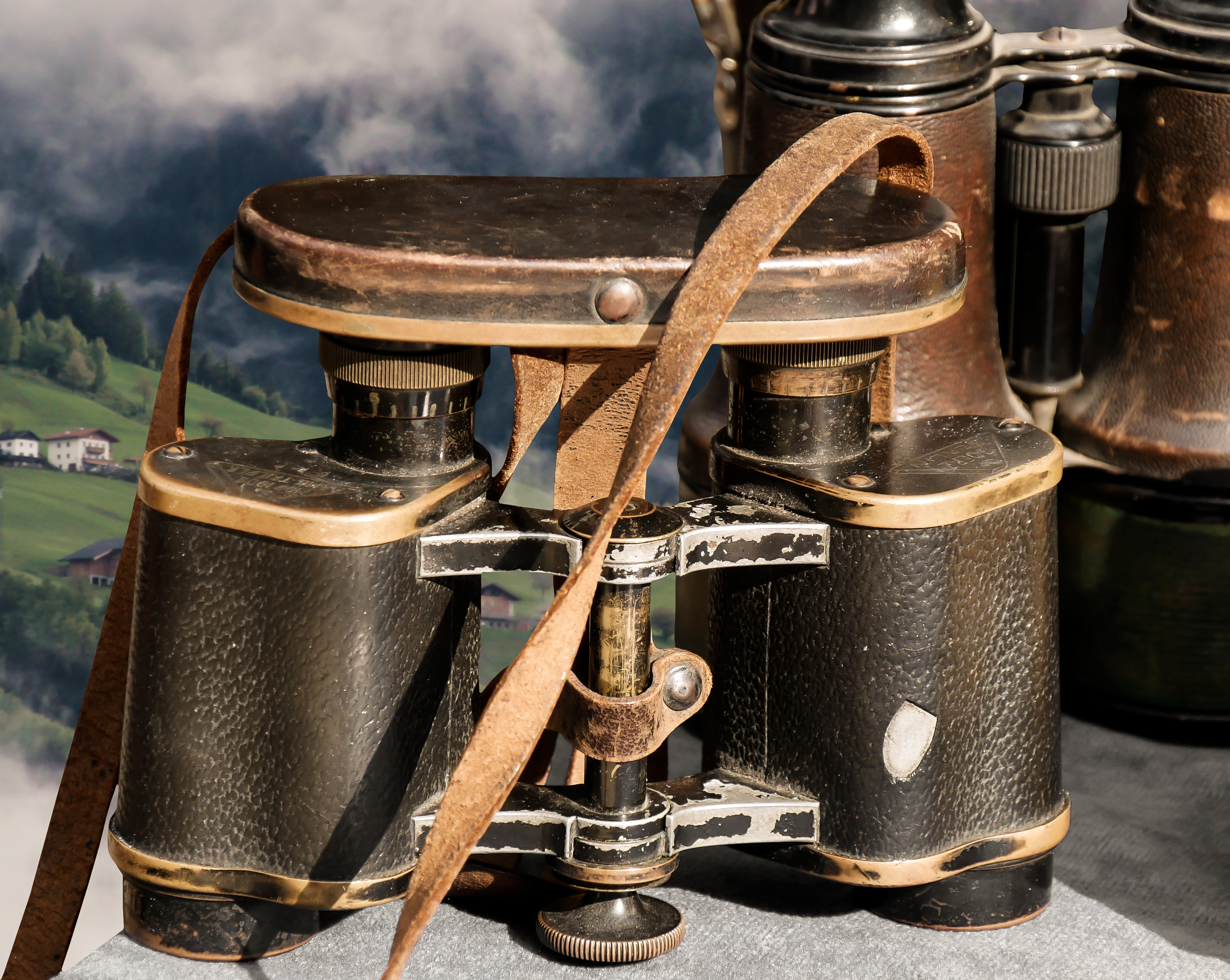 Old Binoculars, Binocular, Lens, Metal, Object, HQ Photo