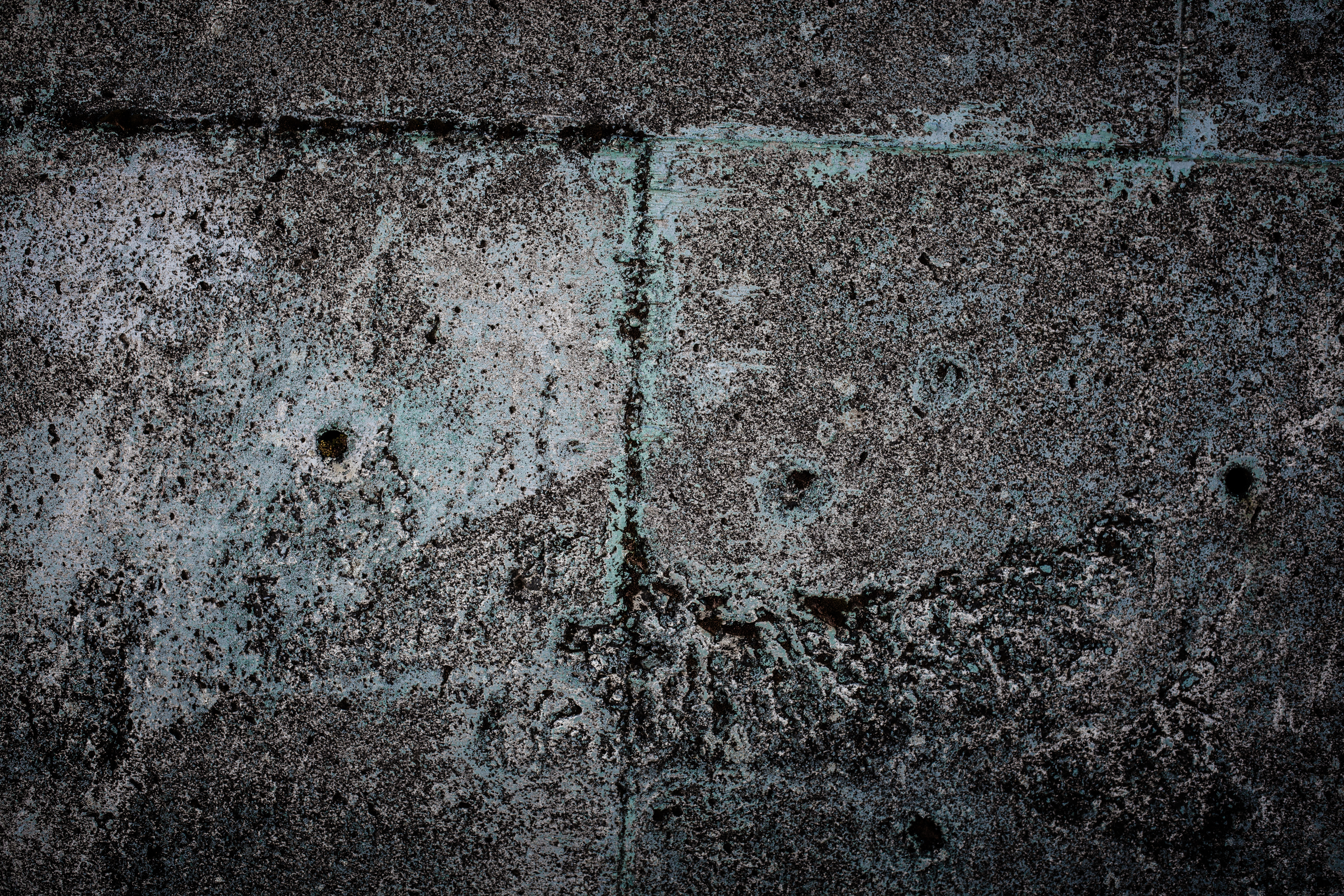 Old blue concrete wall photo