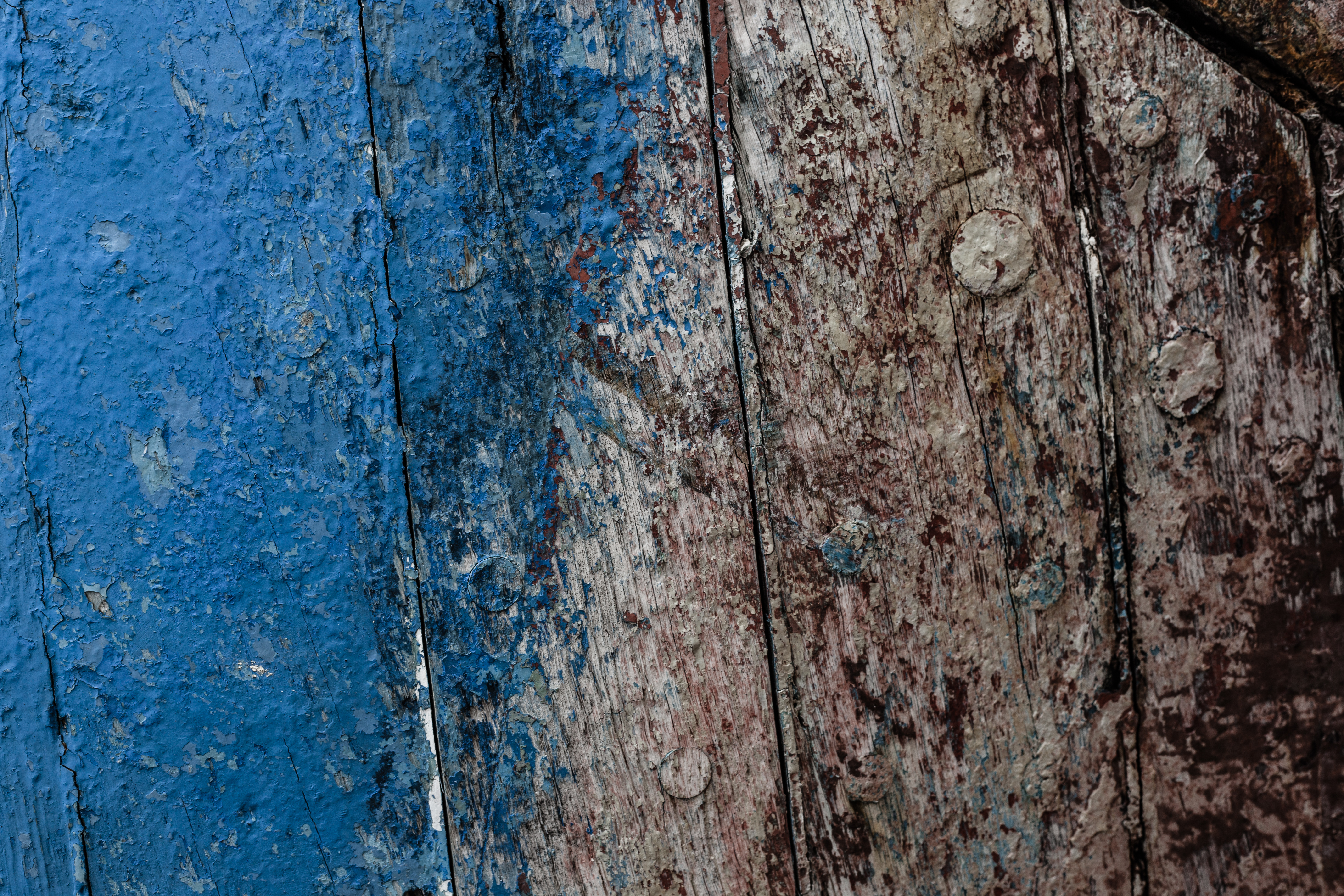 Old Blue Wood Texture, Blue, Damaged, Gritty, Grunge, HQ Photo