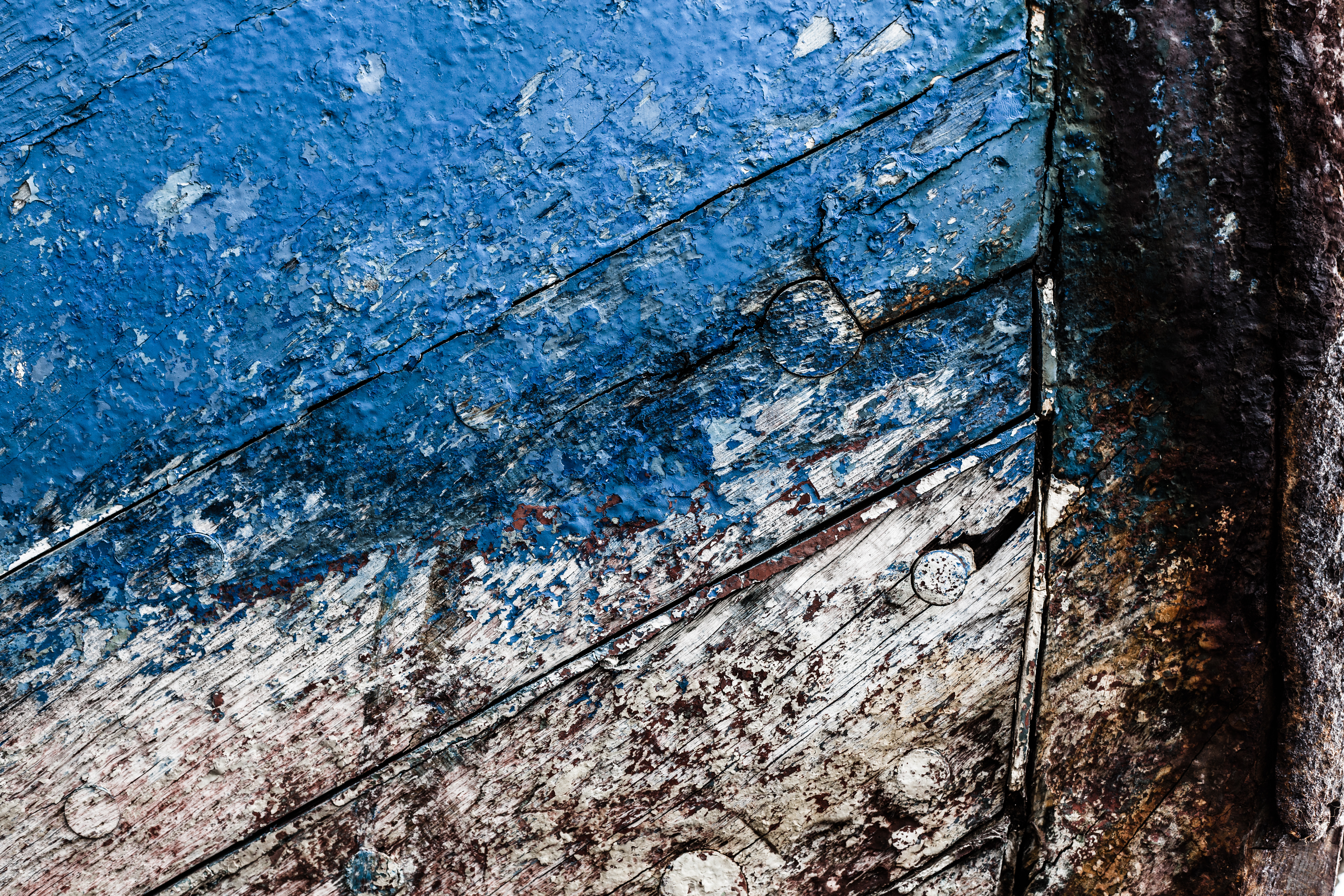 Old blue wood texture photo