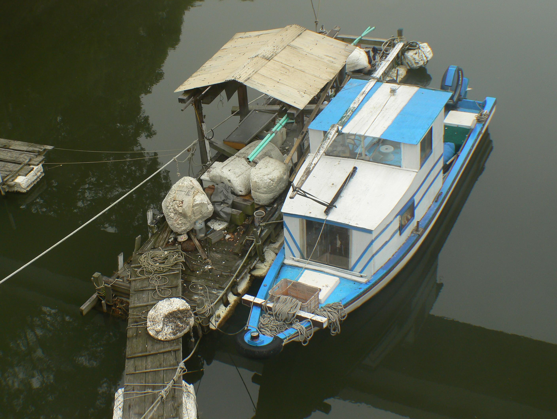 Old boat, Boat, Hiroshima, Houseboat, Japan, HQ Photo