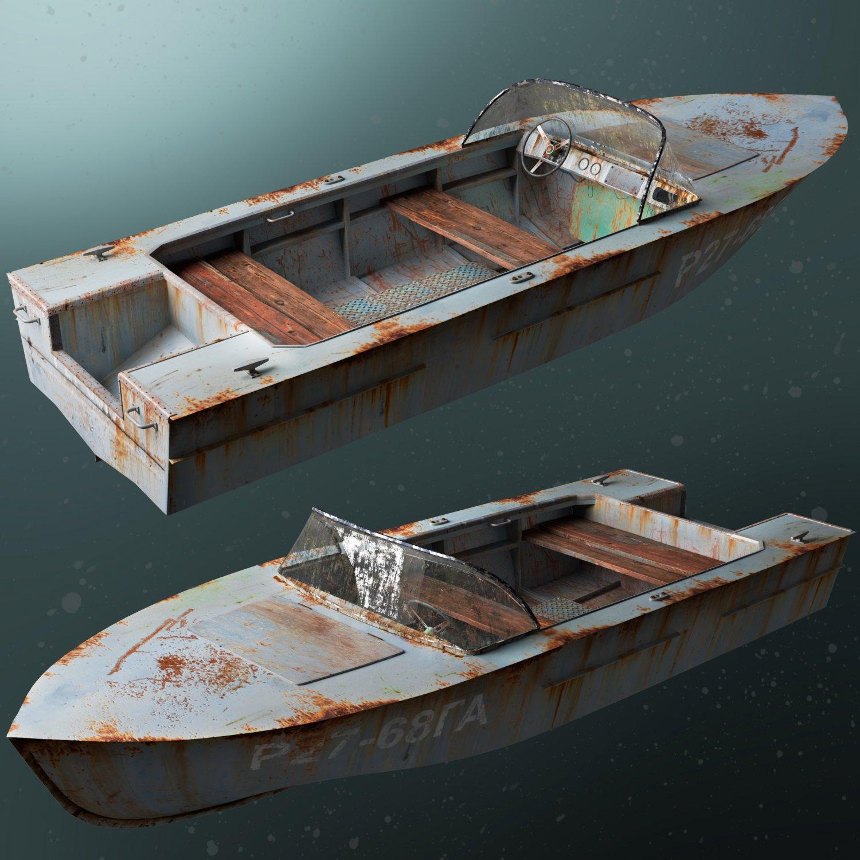 Old boat 3D Model in Boats 3DExport