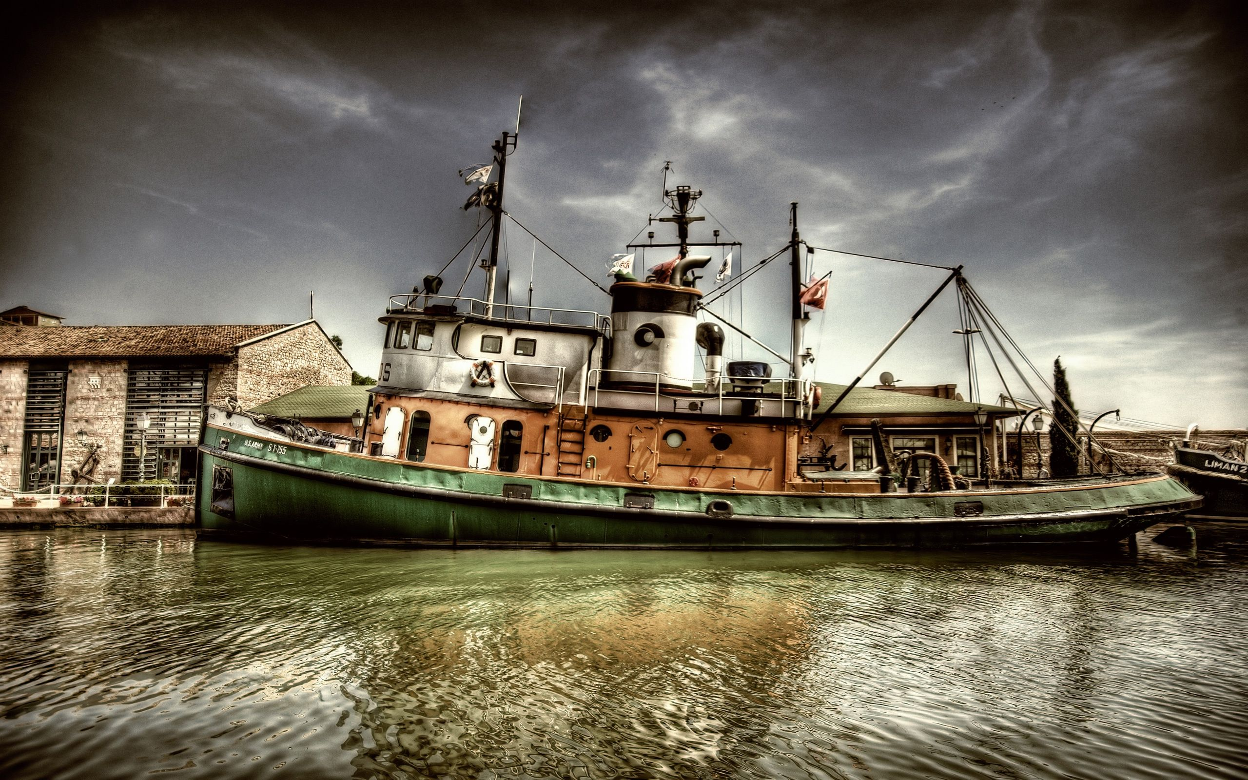 Boat Old At The Harbor And Photo High Resolution 792424 Wallpaper ...